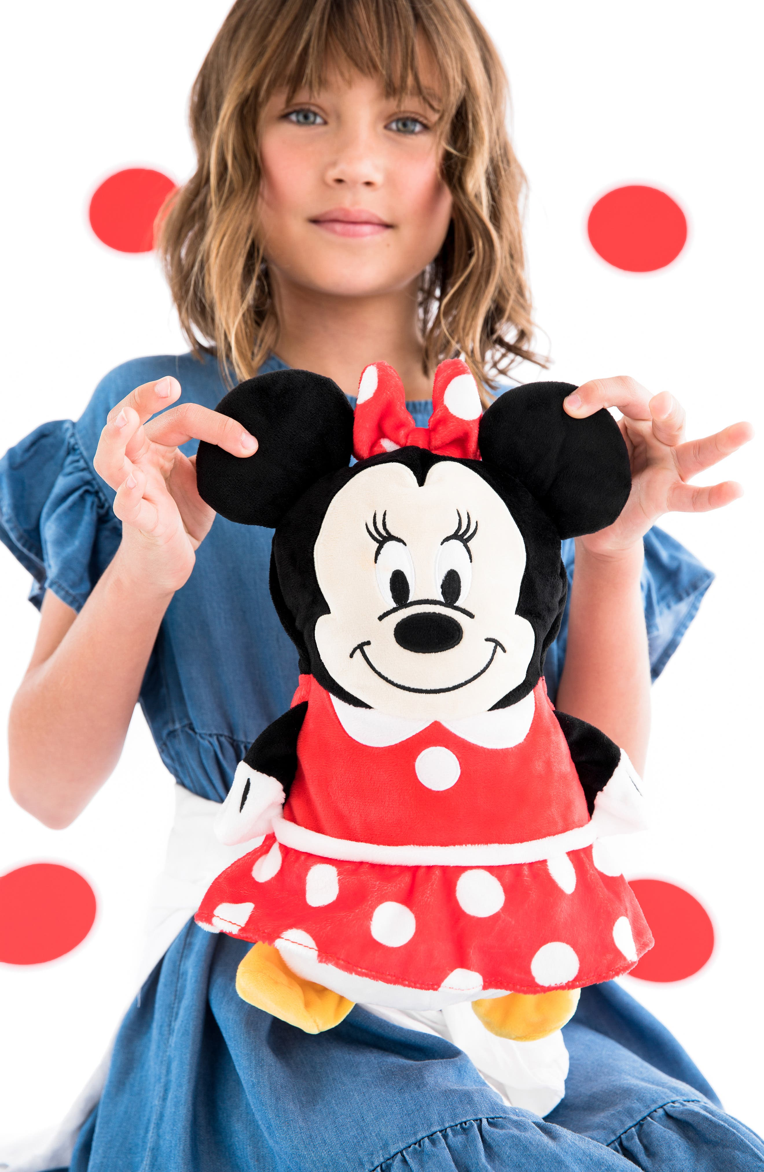CUBCOATS, Disney Minnie Mouse 2-in-1 Stuffed Animal Hoodie, Alternate thumbnail 9, color, 001