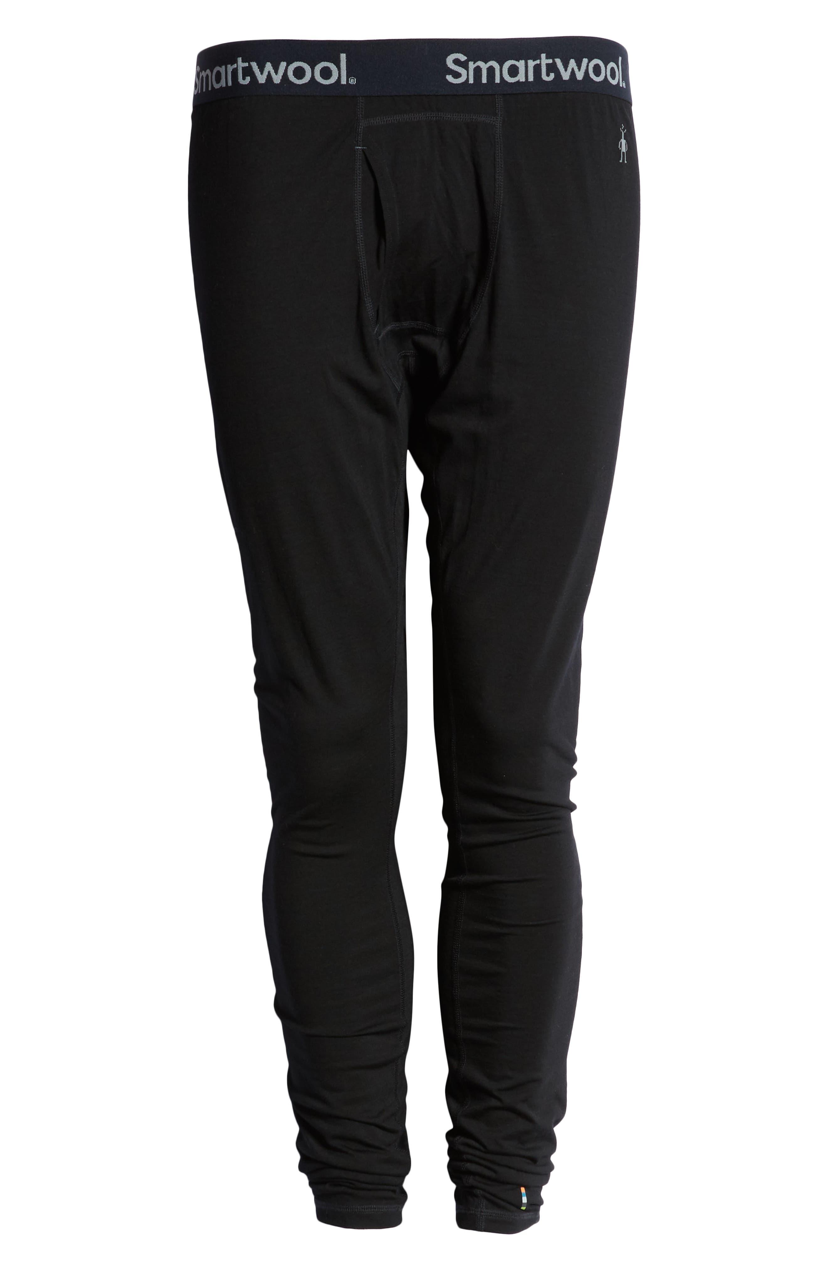 SMARTWOOL, Merino 150 Wool Blend Base Layer Bottoms, Alternate thumbnail 7, color, BLACK