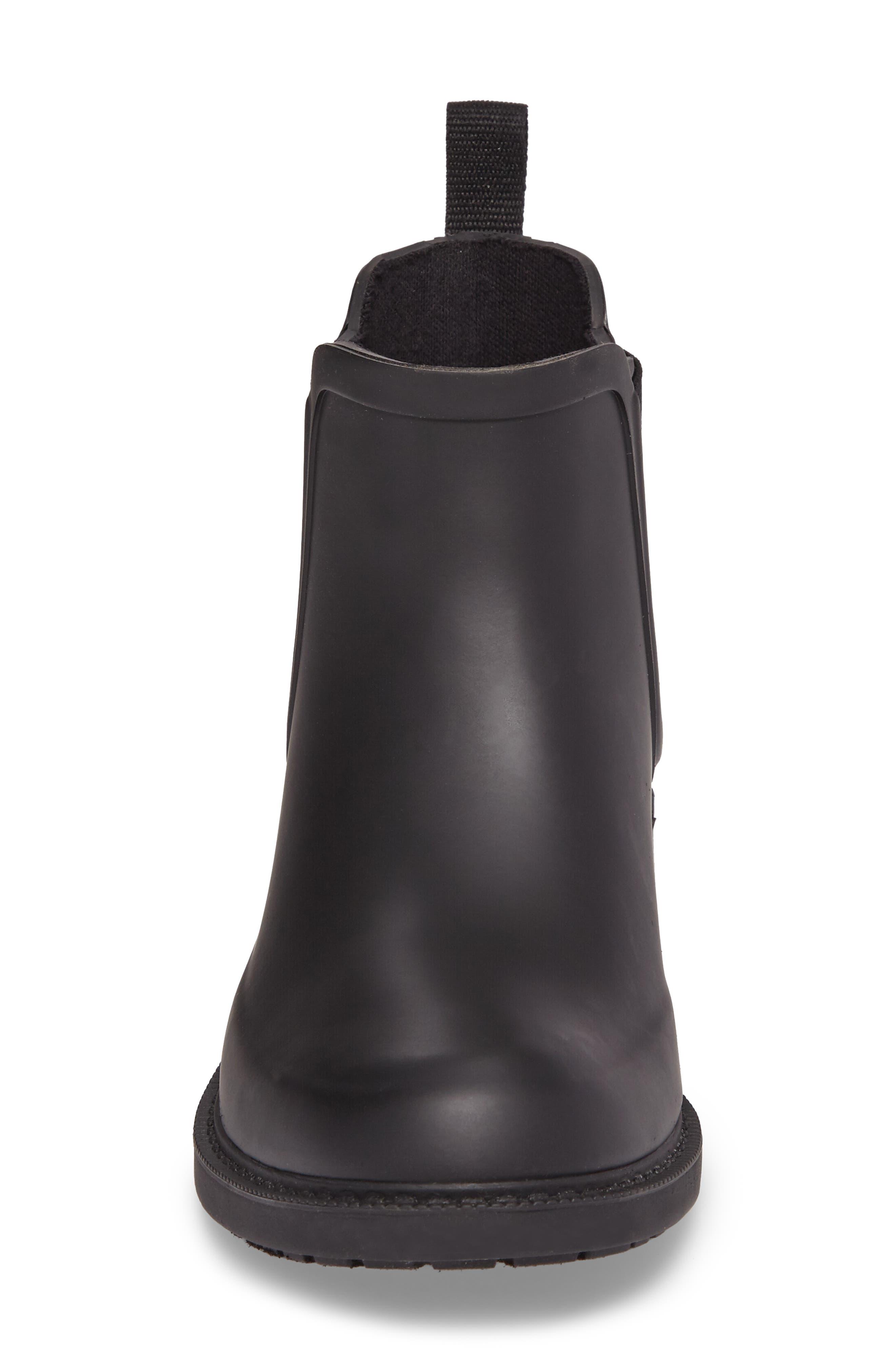 MADEWELL, The Chelsea Rain Boot, Alternate thumbnail 4, color, TRUE BLACK RUBBER