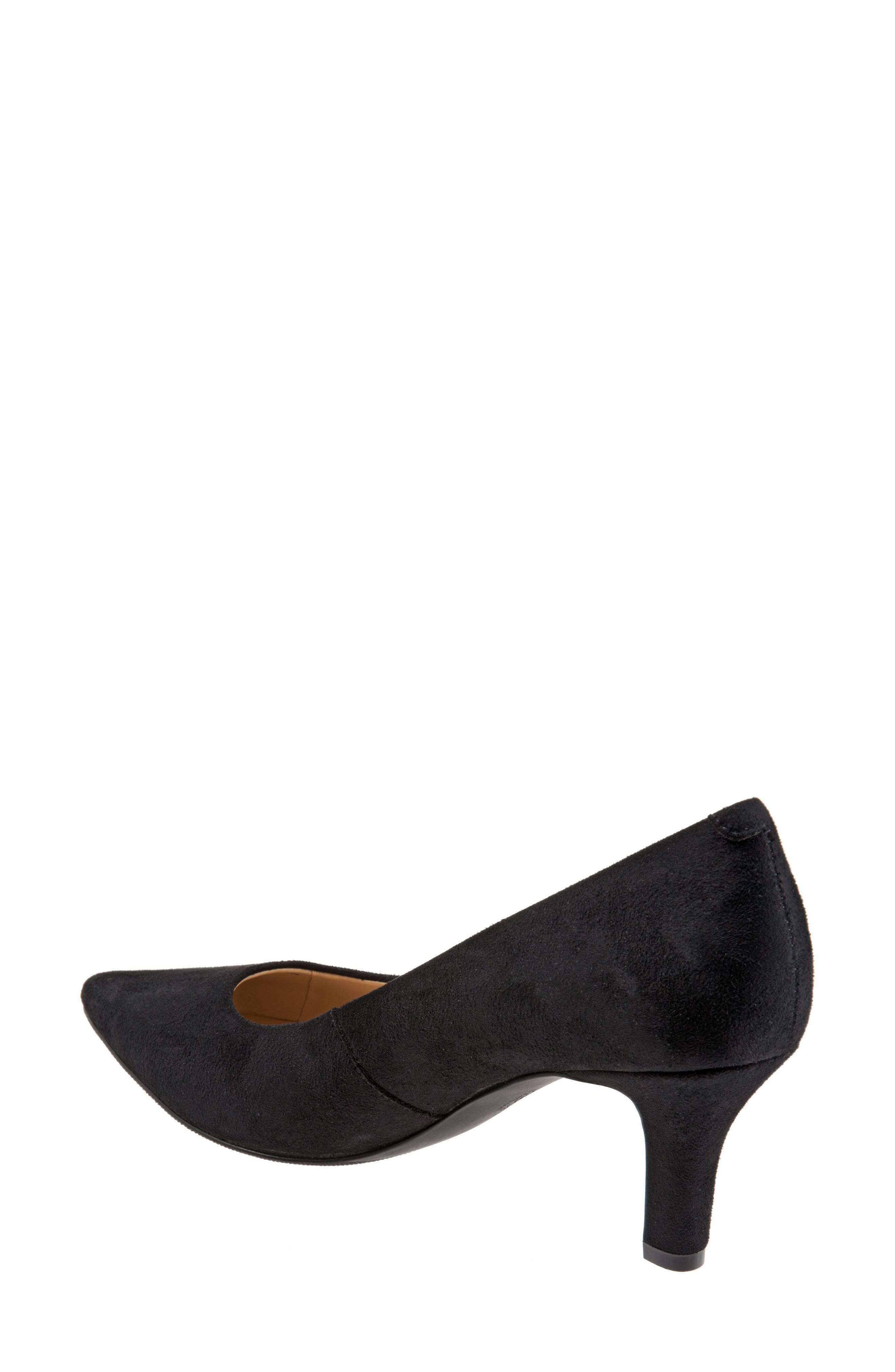 TROTTERS, Noelle Pointy Toe Pump, Alternate thumbnail 2, color, BLACK FABRIC