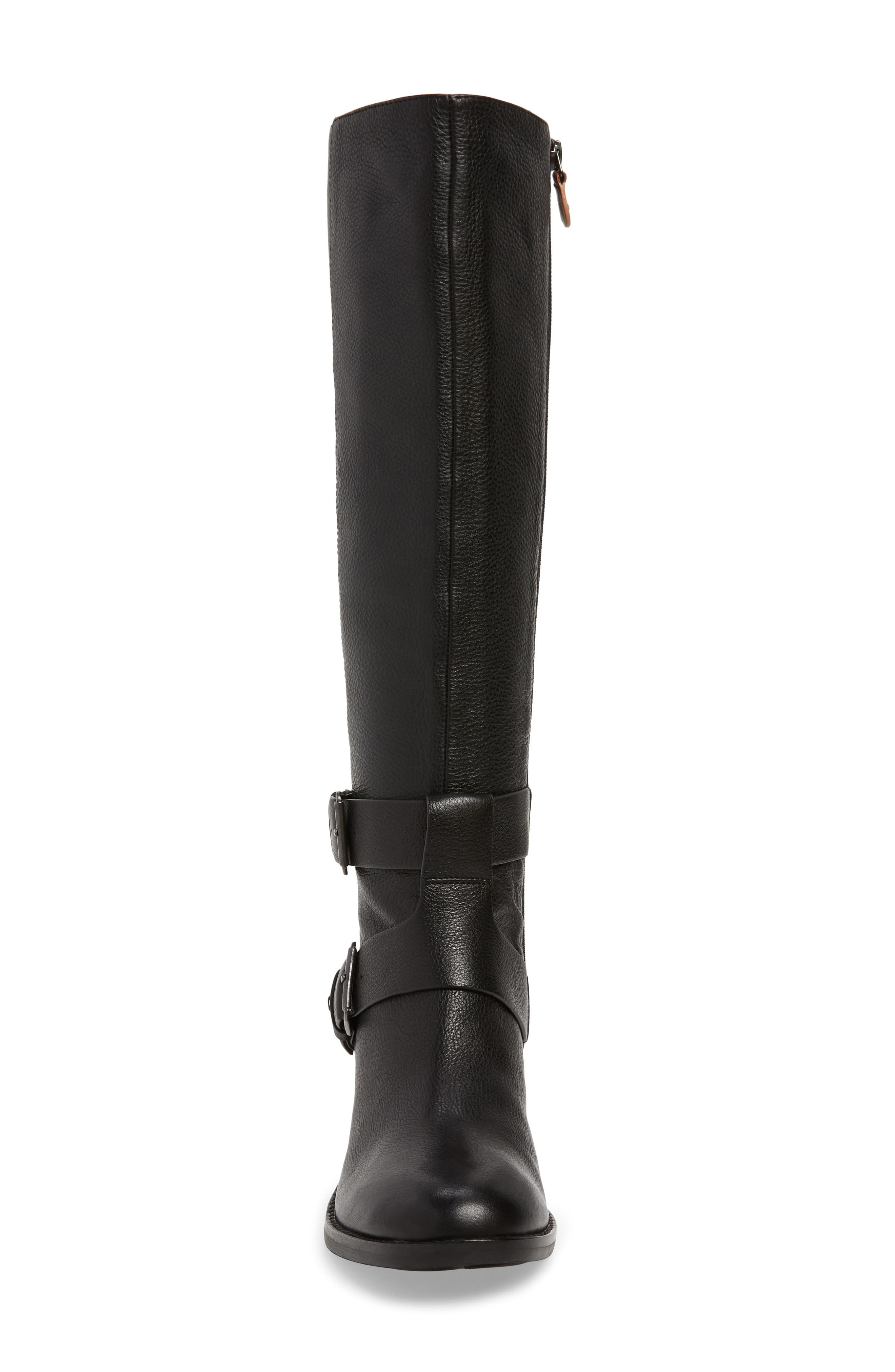 GENTLE SOULS BY KENNETH COLE, Verona Knee-High Riding Boot, Alternate thumbnail 4, color, 001