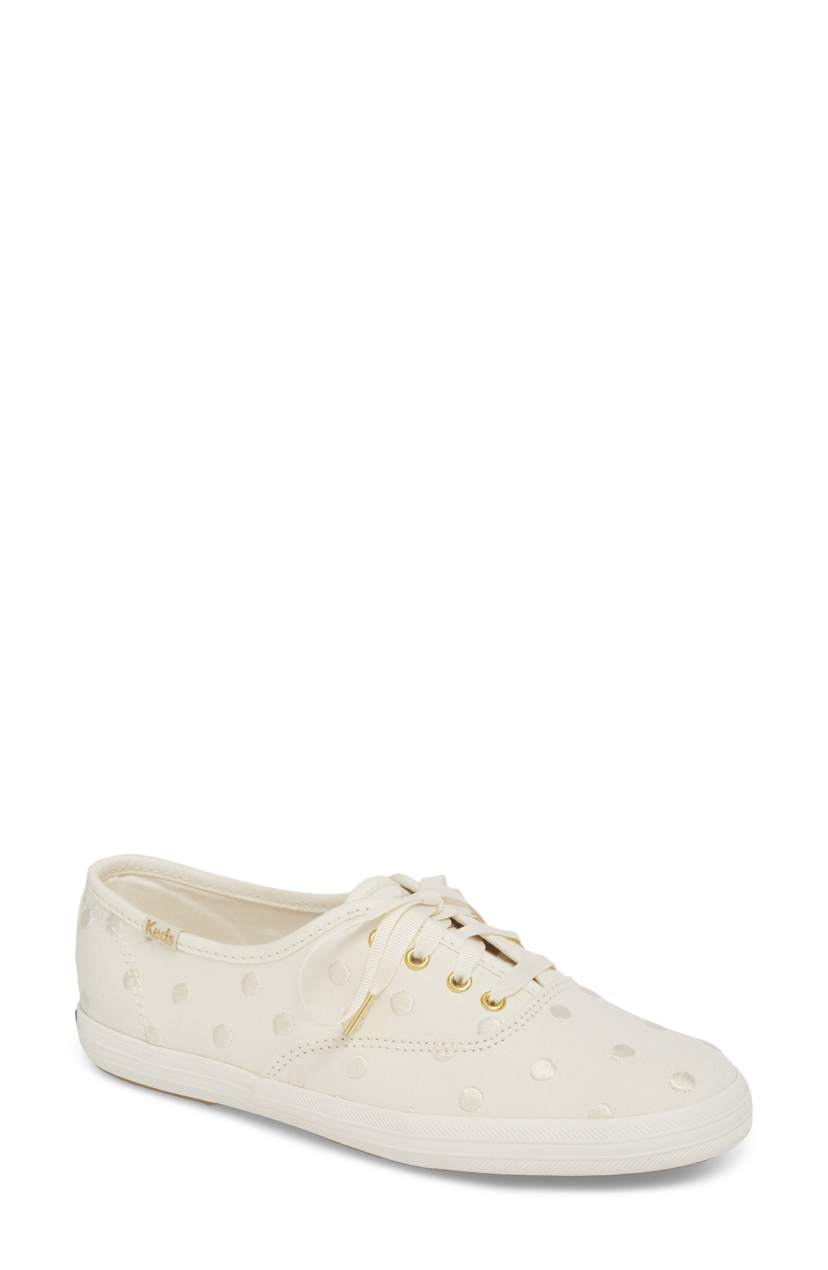 KEDS<SUP>®</SUP> FOR KATE SPADE NEW YORK champion dancing dot sneaker, Main, color, WHITE