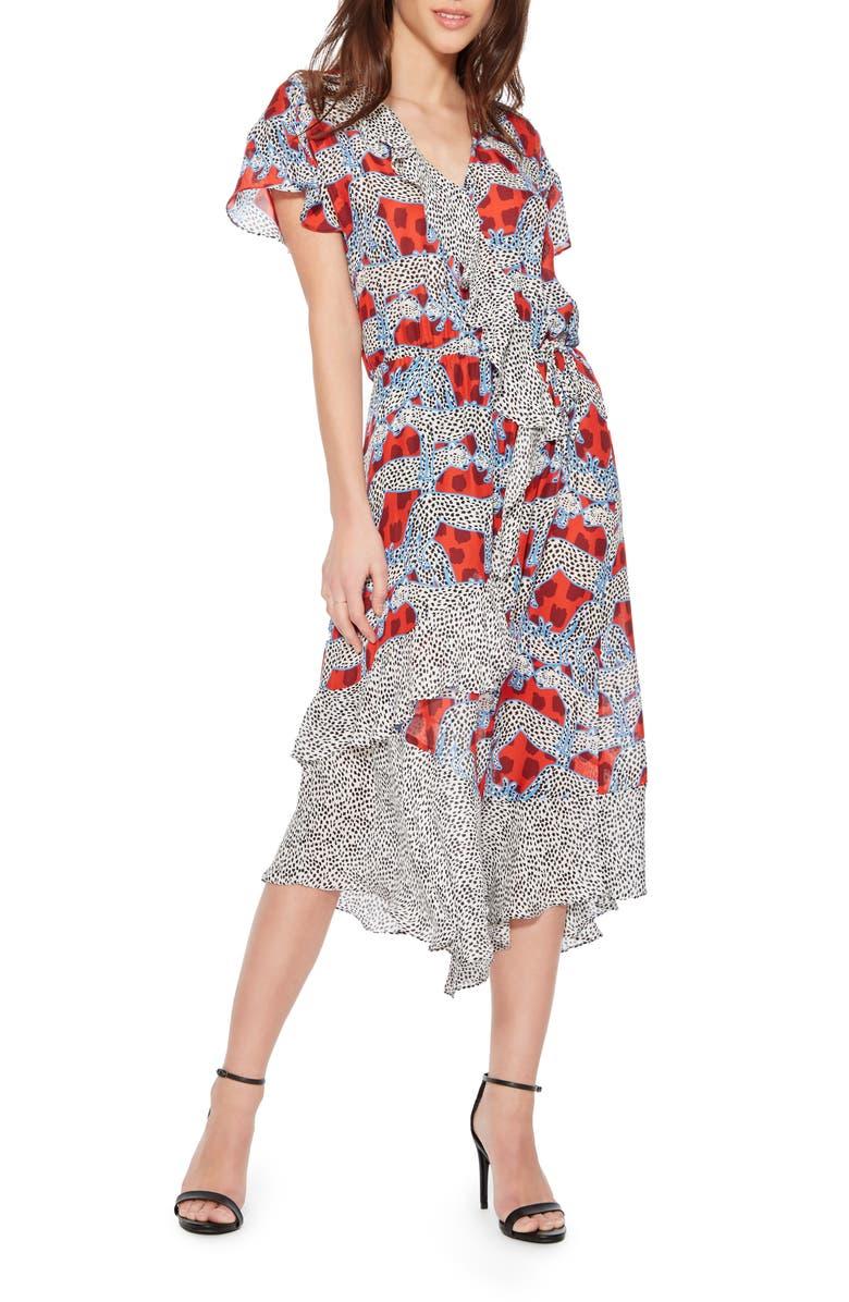 Parker Dresses REINA PATTERN MIX SILK BLEND DRESS