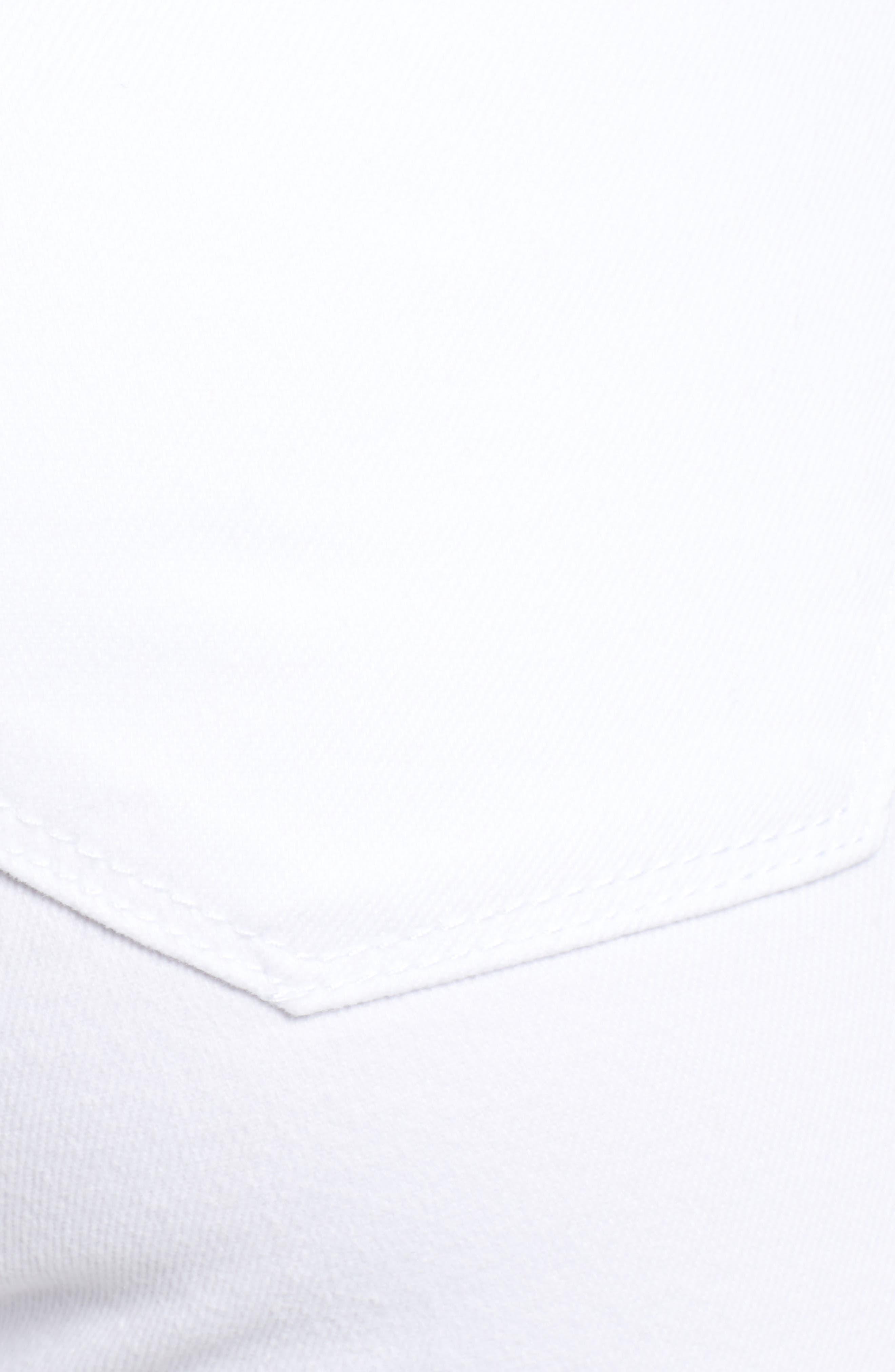 STS BLUE, Emma Cutoff Hem Crop Skinny Jeans, Alternate thumbnail 6, color, OPTIC WHITE