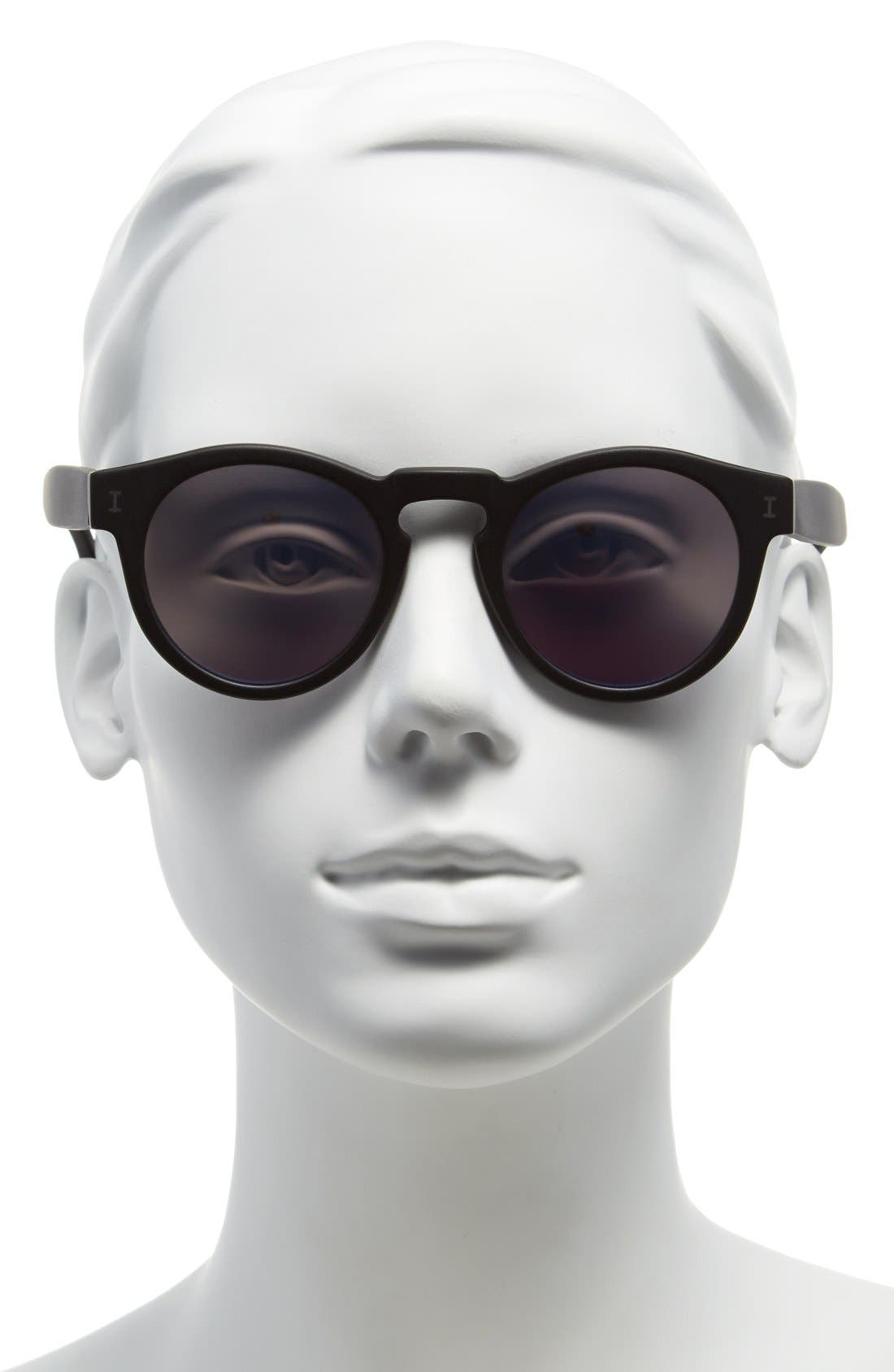ILLESTEVA, 'Leonard' 47mm Sunglasses, Alternate thumbnail 2, color, 001