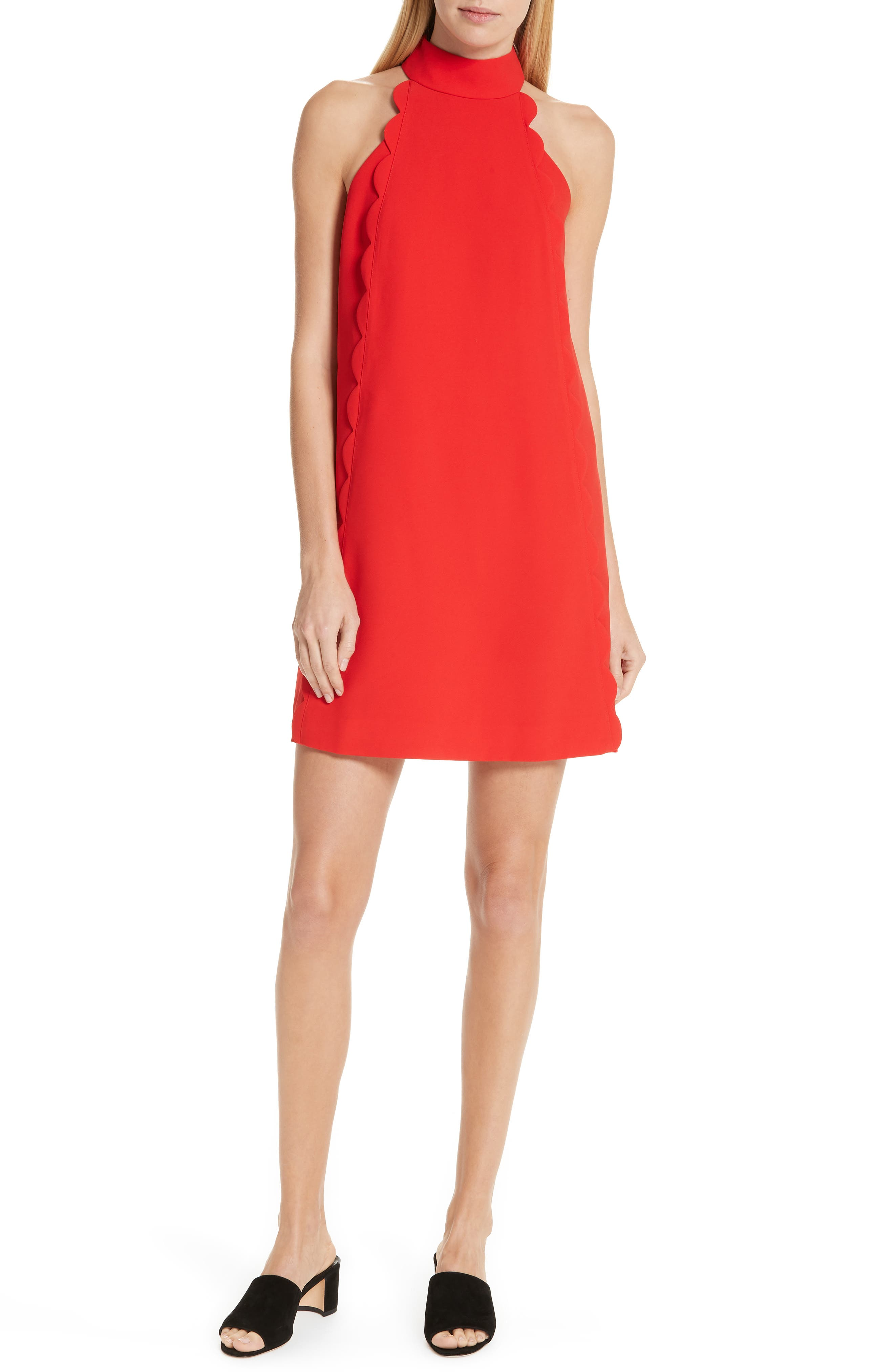 Ted Baker London Torrii High Neck Tunic Dress, Red