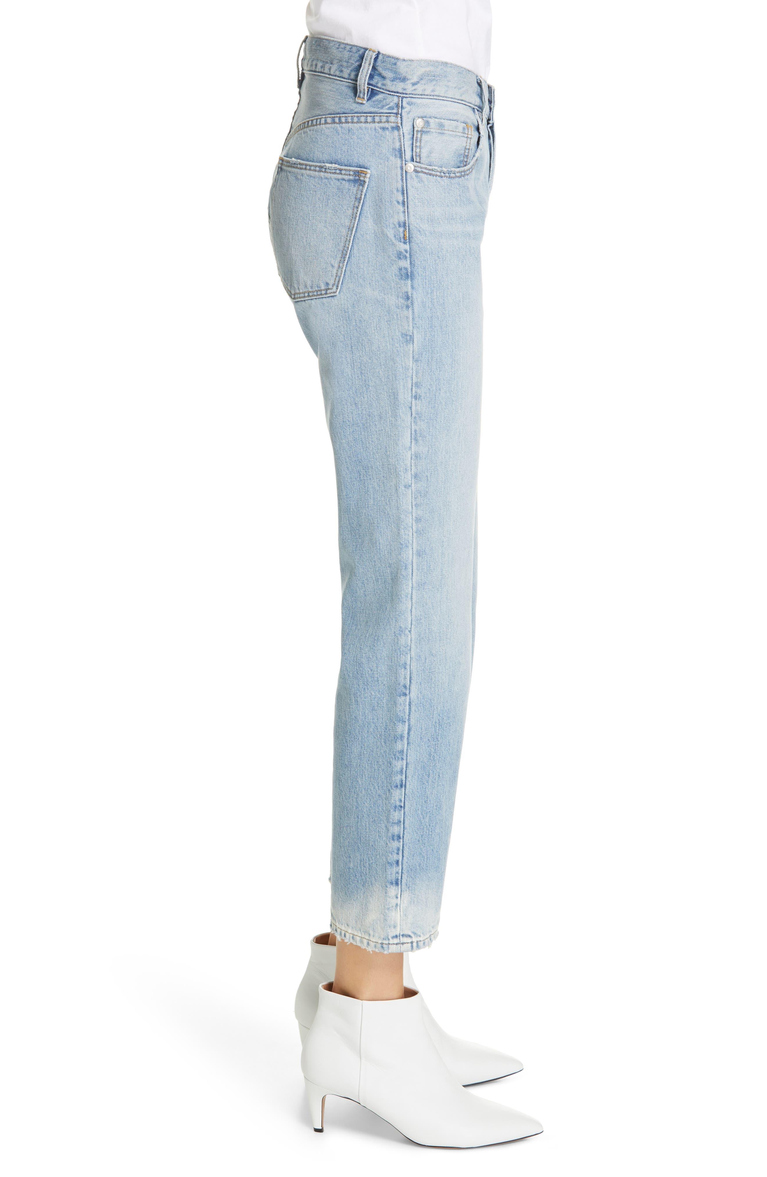 LA VIE REBECCA TAYLOR, Sylvie High Waist Jeans, Alternate thumbnail 4, color, CHANTAL WASH
