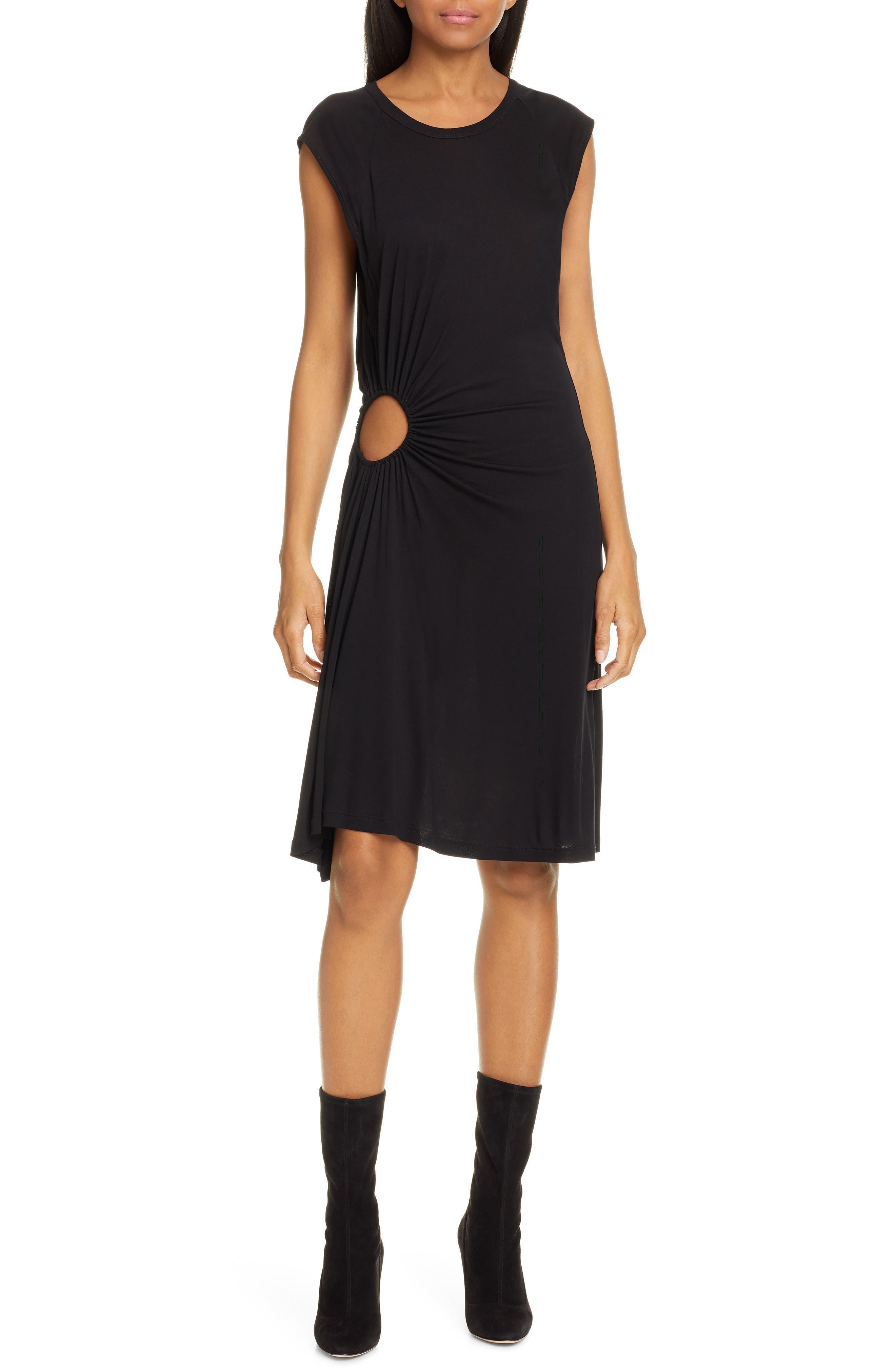 A.l.c. Hartwell Side Cutout Dress, Black