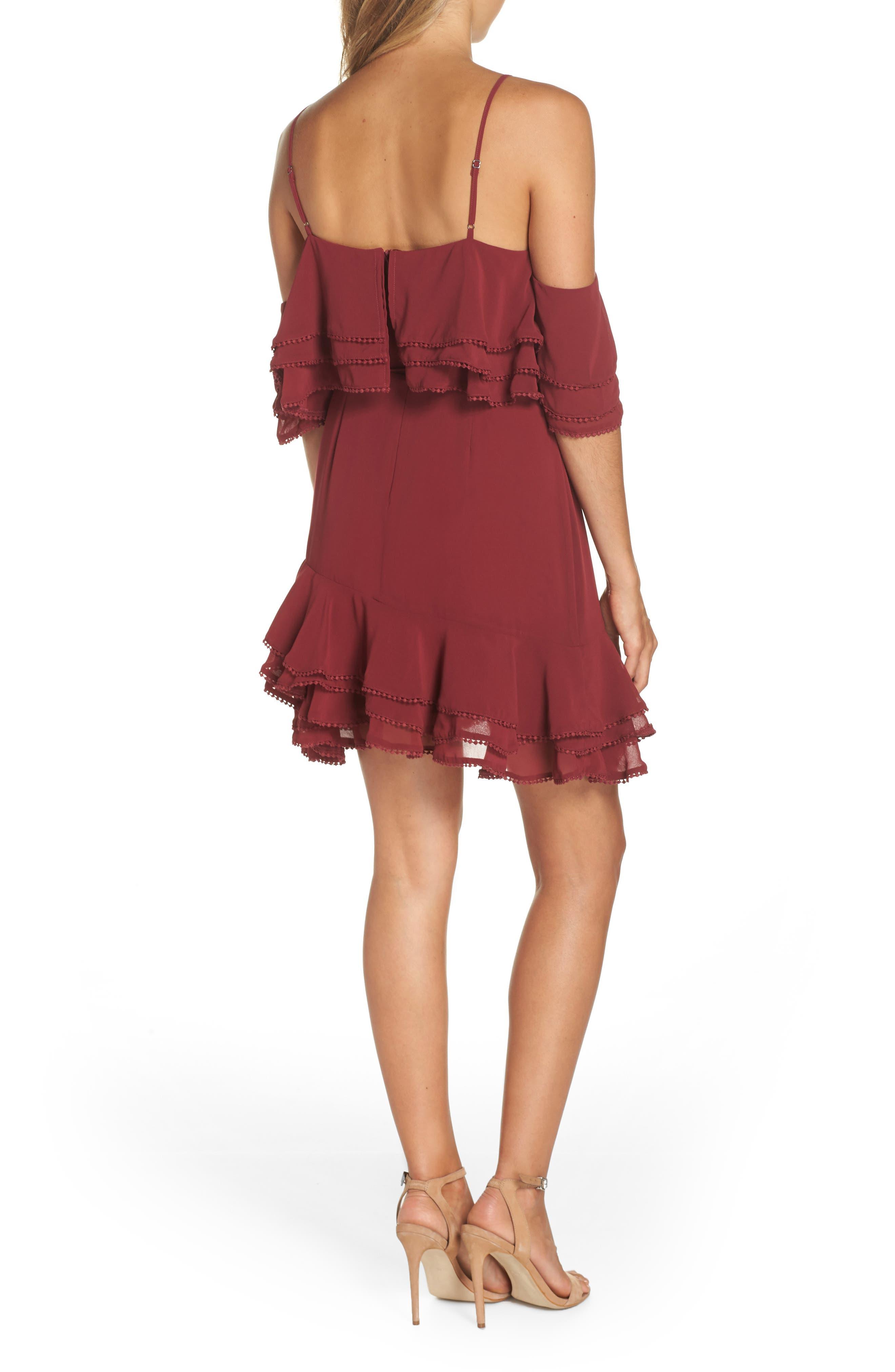 BB DAKOTA, Up All Night Layered Cold Shoulder Dress, Alternate thumbnail 2, color, 930