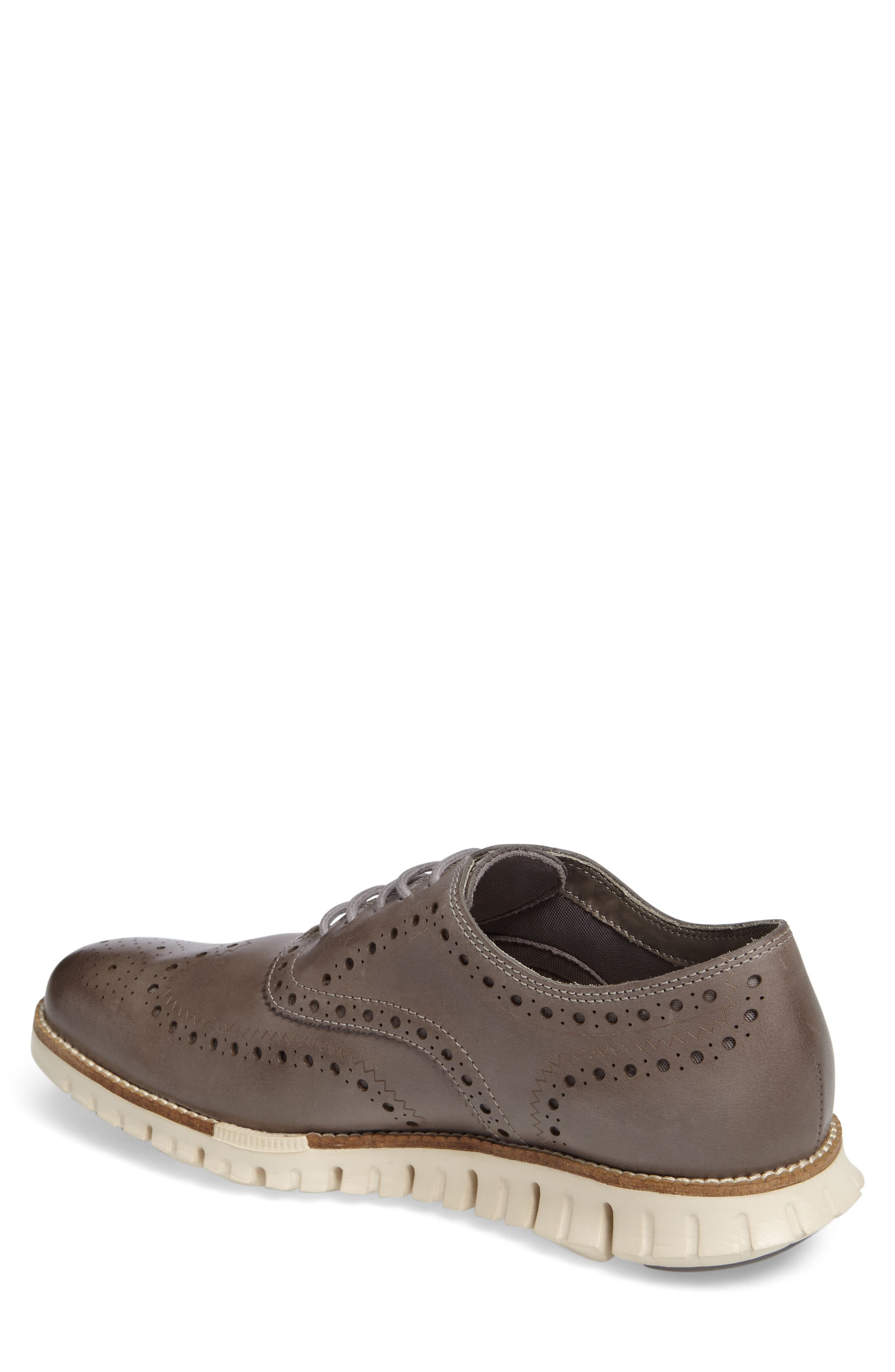 COLE HAAN, 'ZeroGrand' Wingtip Oxford, Alternate thumbnail 2, color, IRONSTONE LEATHER