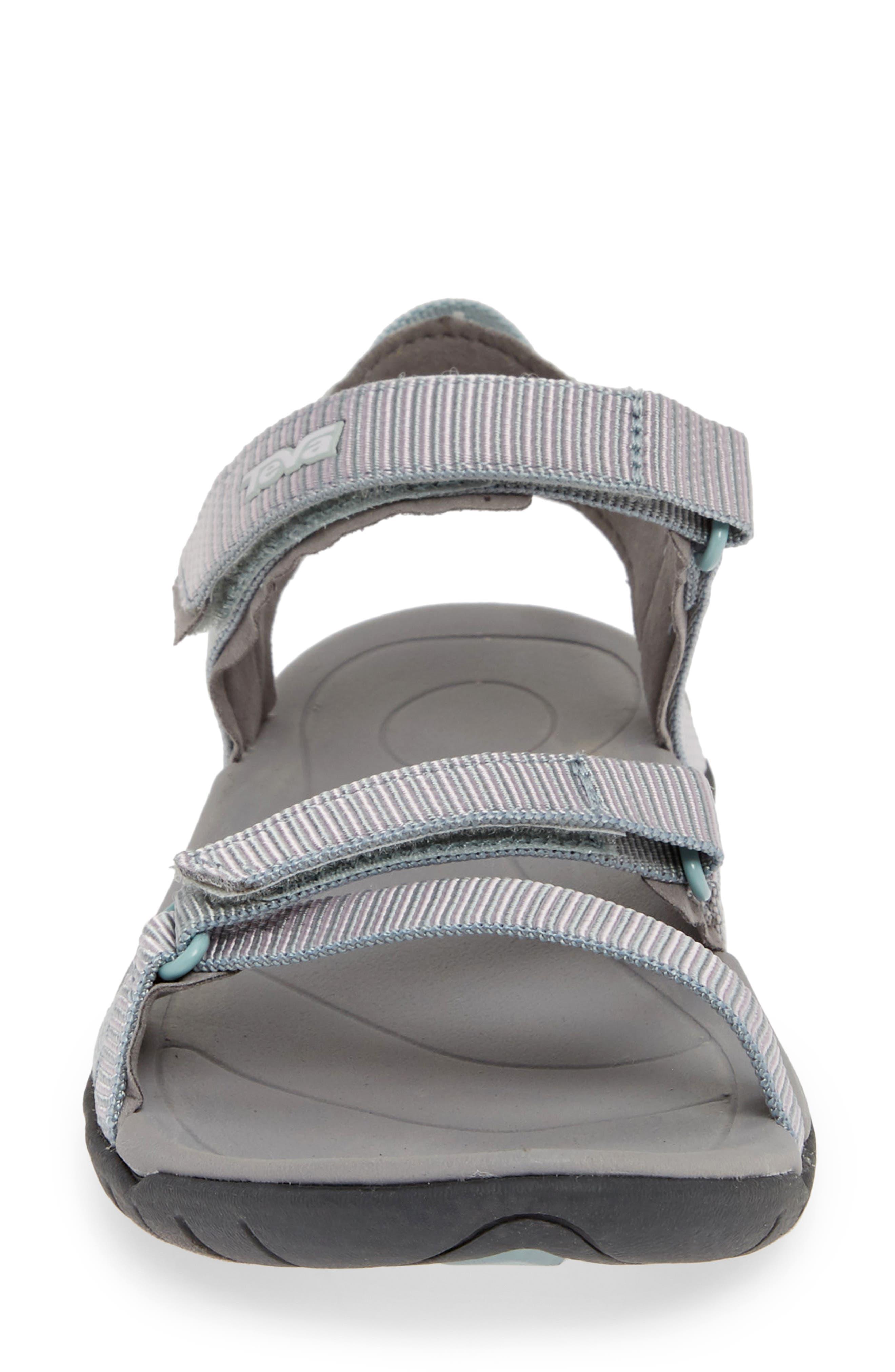 TEVA, 'Verra' Sandal, Alternate thumbnail 4, color, GRAY MIST FABRIC