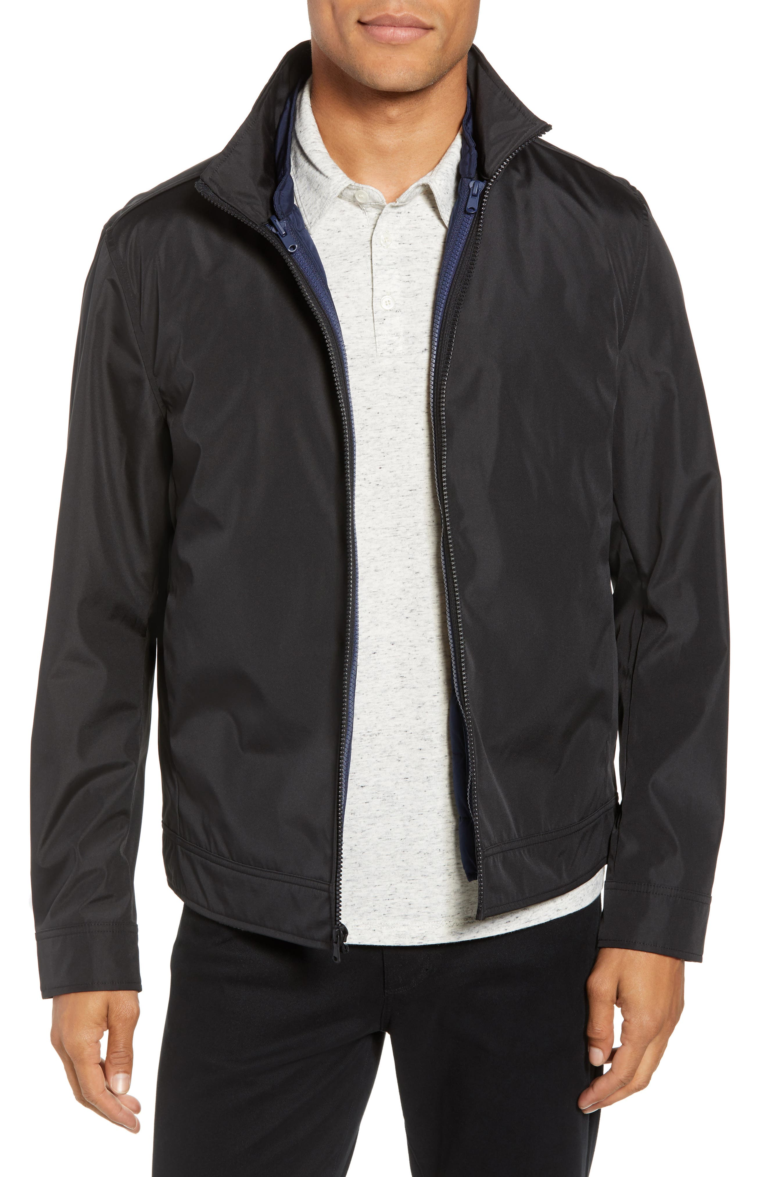 ZACHARY PRELL, Oxford 2-in-1 Jacket, Main thumbnail 1, color, BLACK