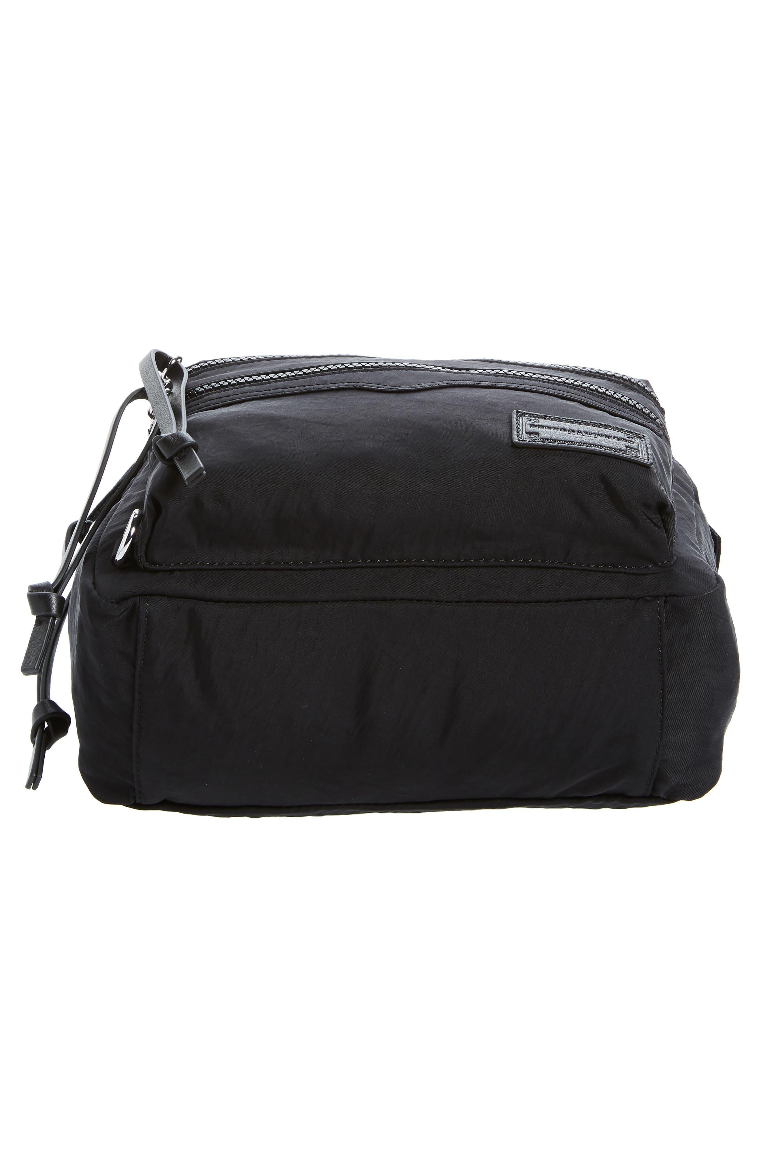 REBECCA MINKOFF, Nylon Backpack, Alternate thumbnail 7, color, BLACK