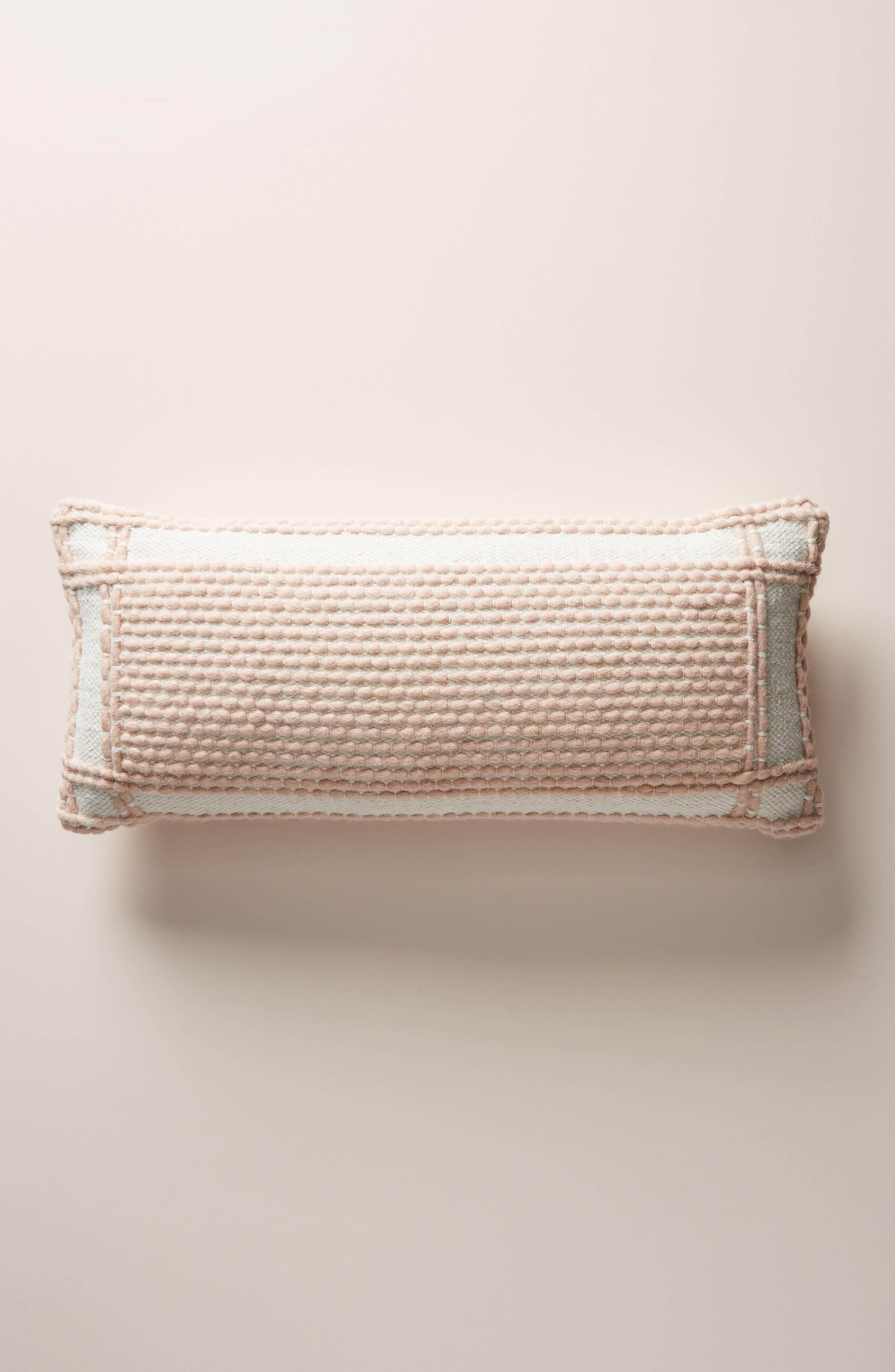 ANTHROPOLOGIE, Evie Bauble Accent Pillow, Main thumbnail 1, color, BLUSH