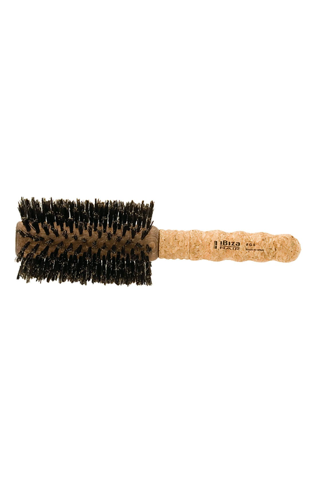 IBIZA HAIR, G4 Swirled Extended Cork Round Brush, Main thumbnail 1, color, NO COLOR