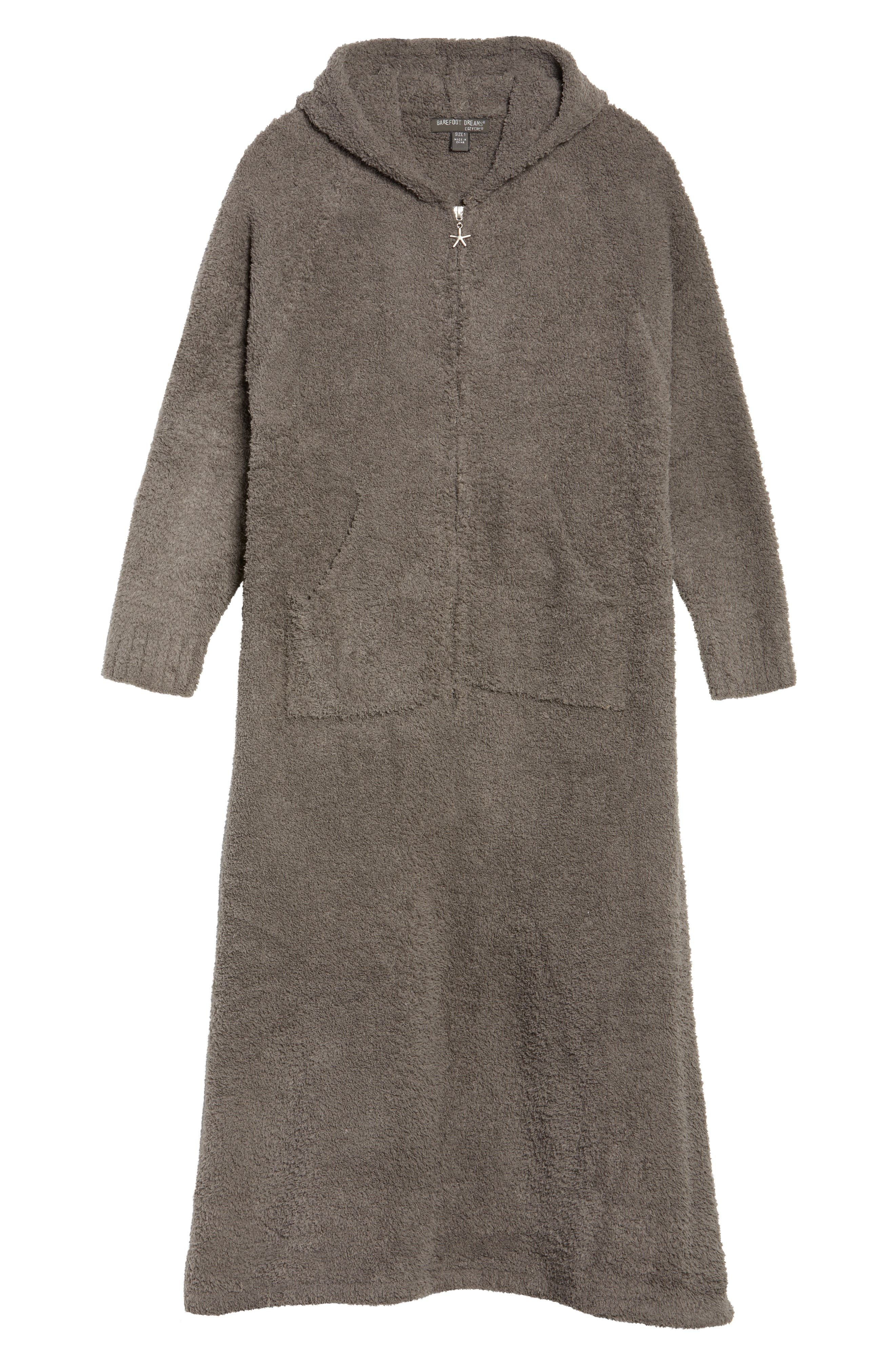 BAREFOOT DREAMS<SUP>®</SUP>, CozyChic<sup>®</sup> Hooded Zip Robe, Alternate thumbnail 6, color, 020