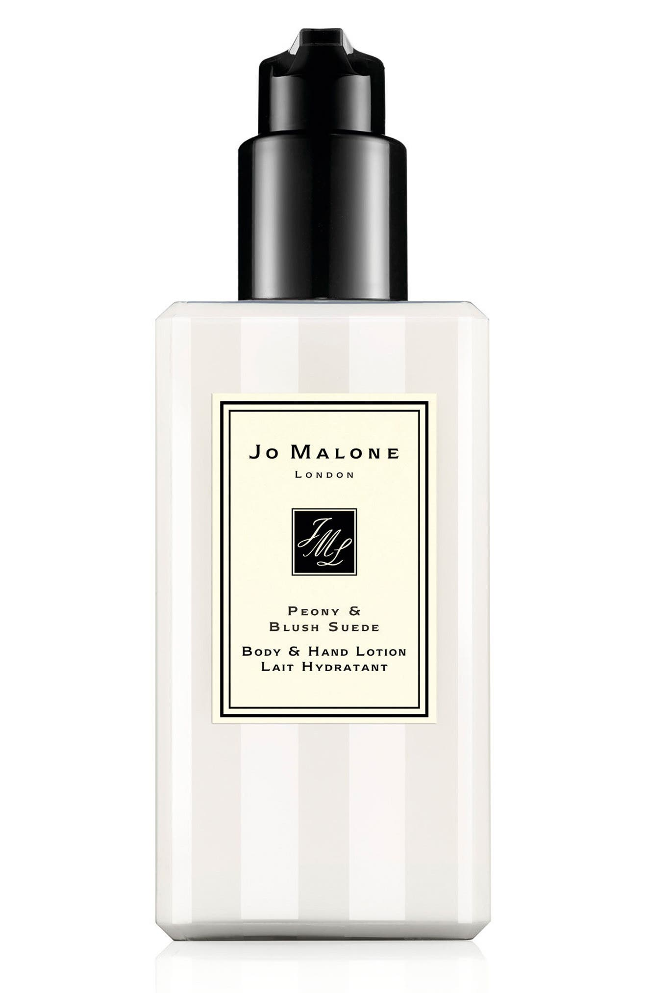 JO MALONE LONDON<SUP>™</SUP>, Peony & Blush Suede Body & Hand Lotion, Main thumbnail 1, color, NO COLOR