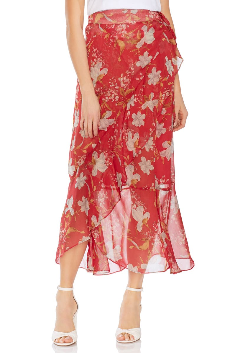 Vince Camuto Skirts WILDFLOWER FAUX WRAP SKIRT