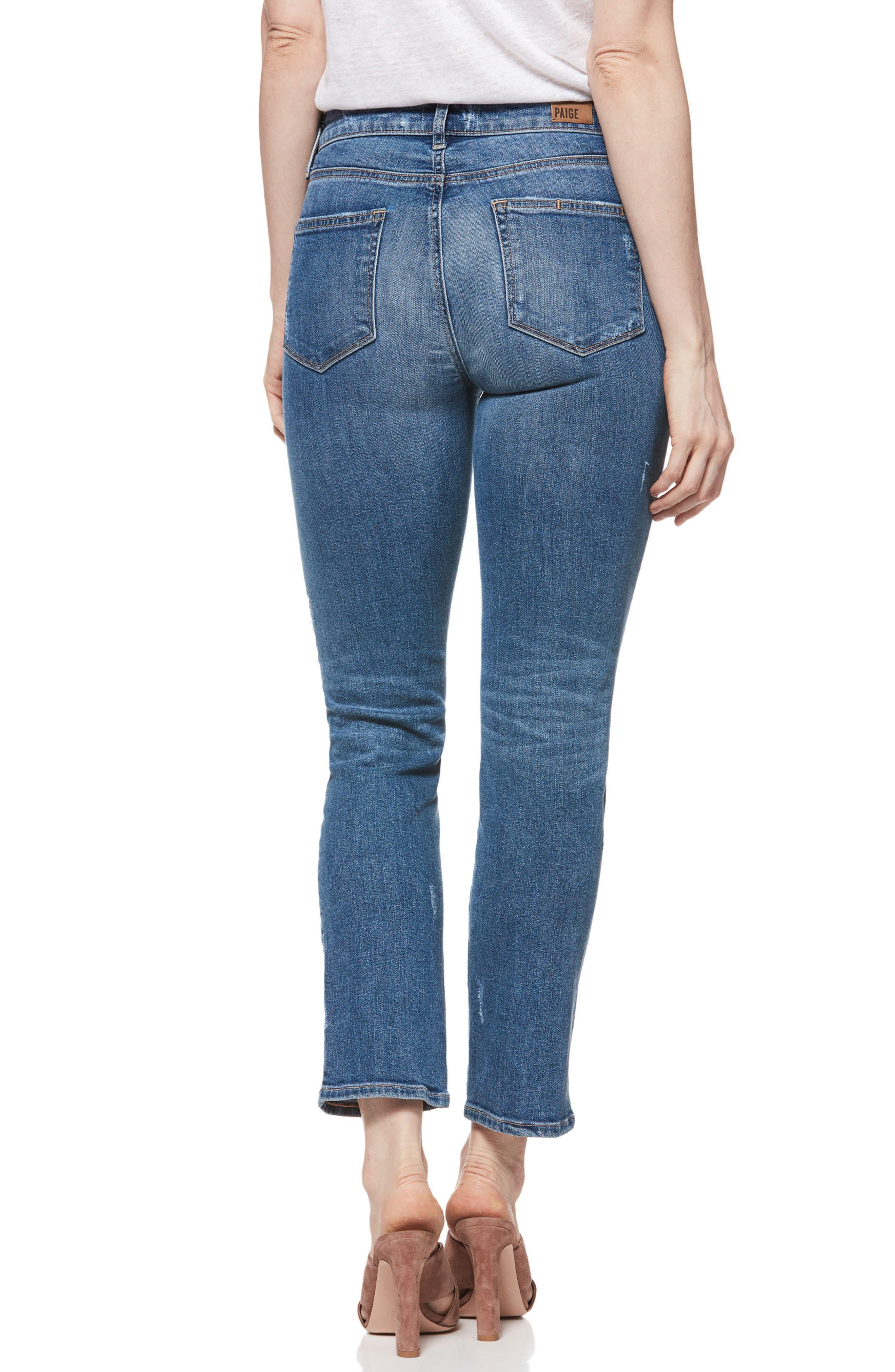 PAIGE, Verdugo Transcend Vintage Ripped Ankle Skinny Jeans, Alternate thumbnail 2, color, EMBARCADERO DESTRUCTED