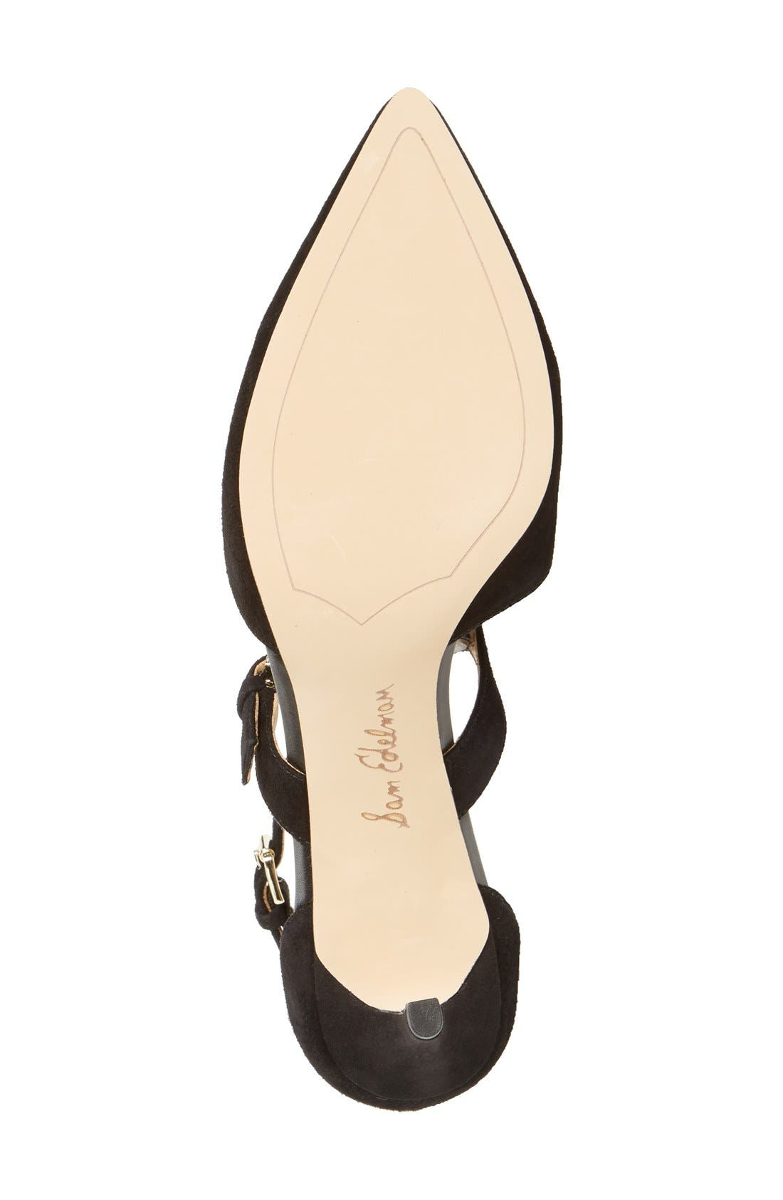 SAM EDELMAN, 'Thea' Strappy Pump, Alternate thumbnail 4, color, 001