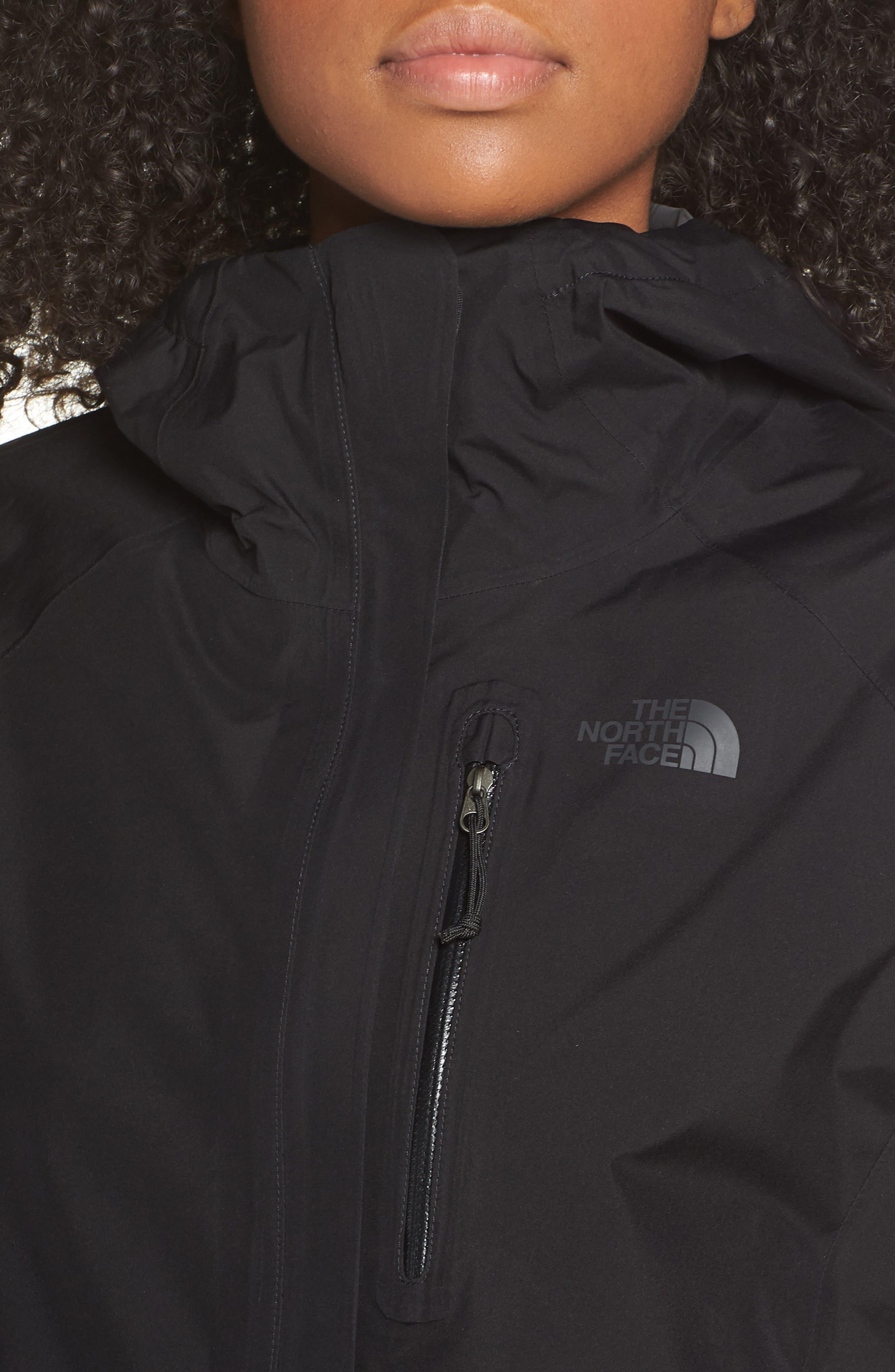 THE NORTH FACE, Dryzzle Hooded Rain Jacket, Alternate thumbnail 5, color, TNF BLACK
