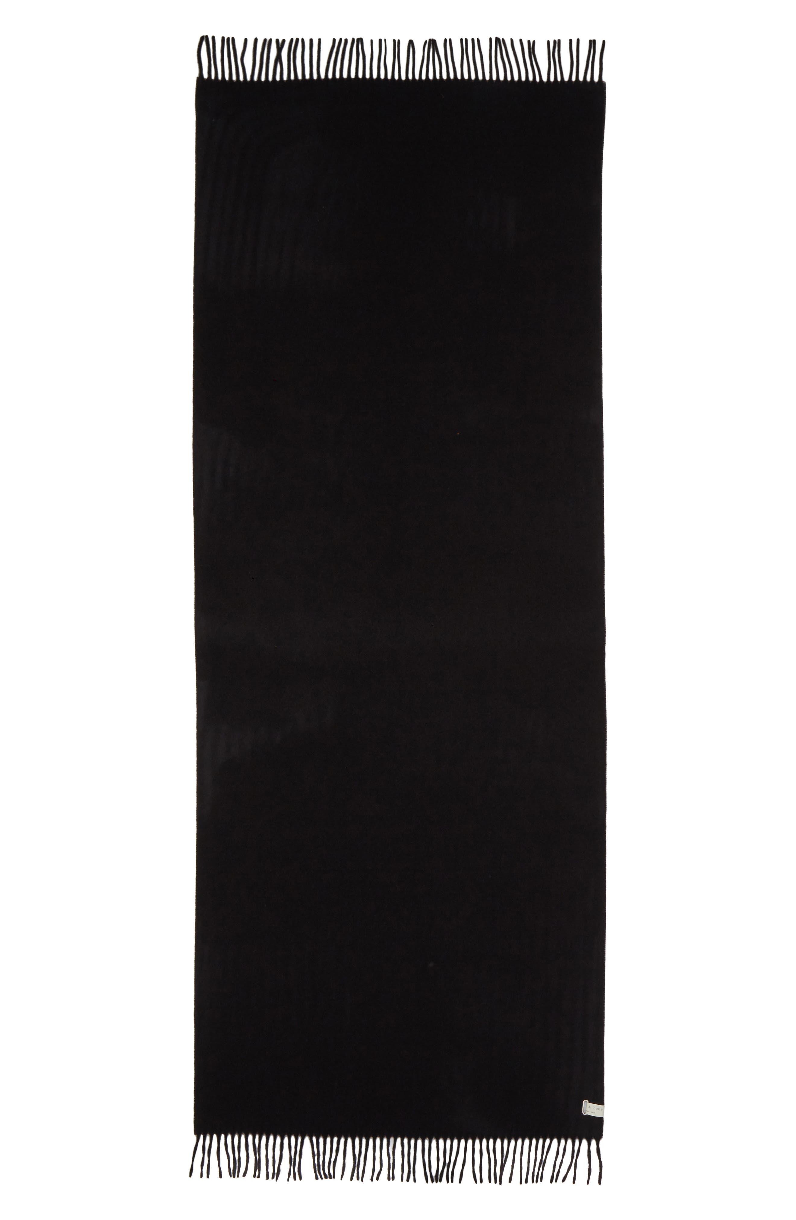 RAG & BONE Classic Wool Scarf, Main, color, BLACK