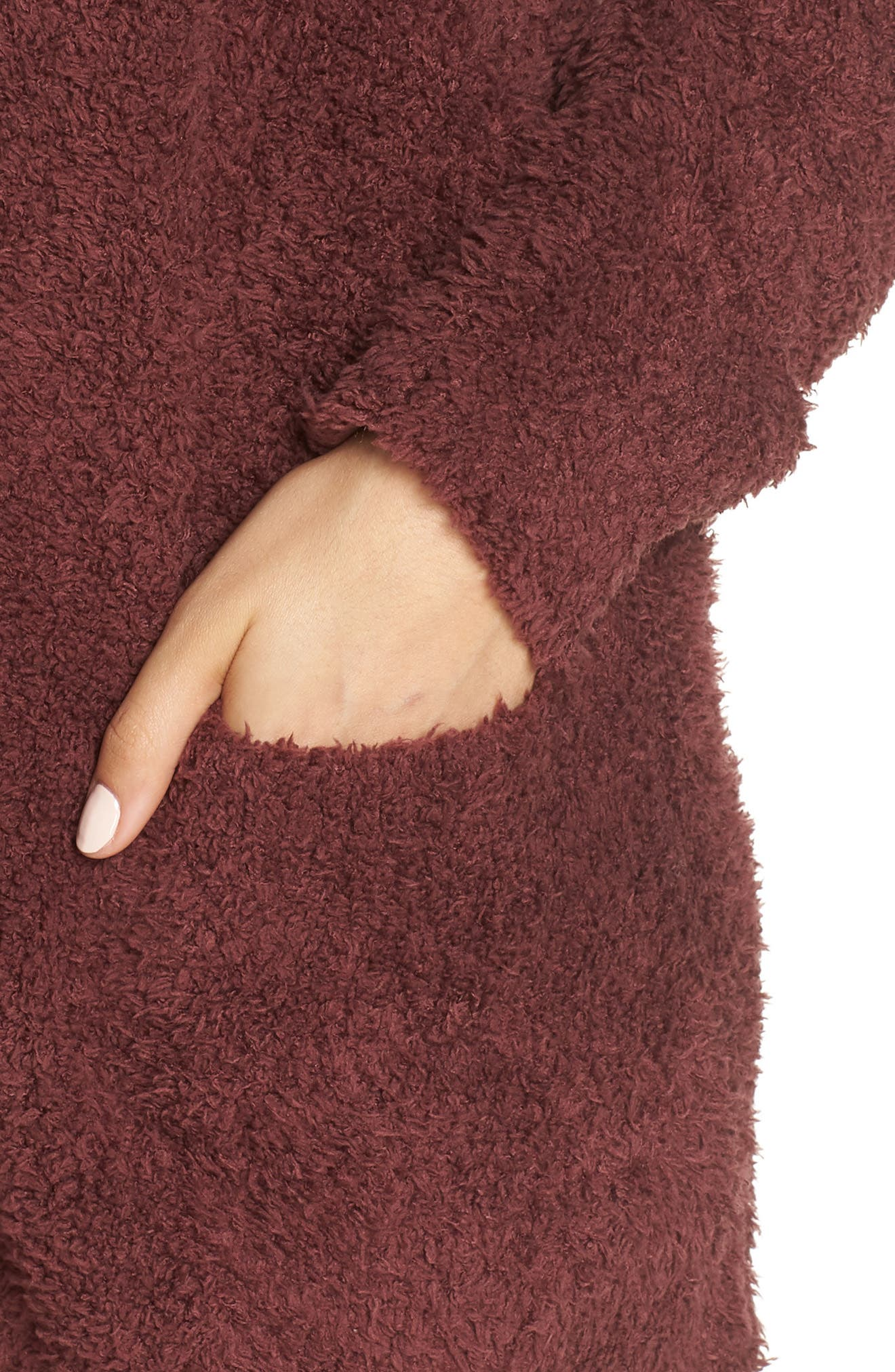 BAREFOOT DREAMS<SUP>®</SUP>, CozyChic<sup>®</sup> Cardigan, Alternate thumbnail 4, color, ROSEWOOD