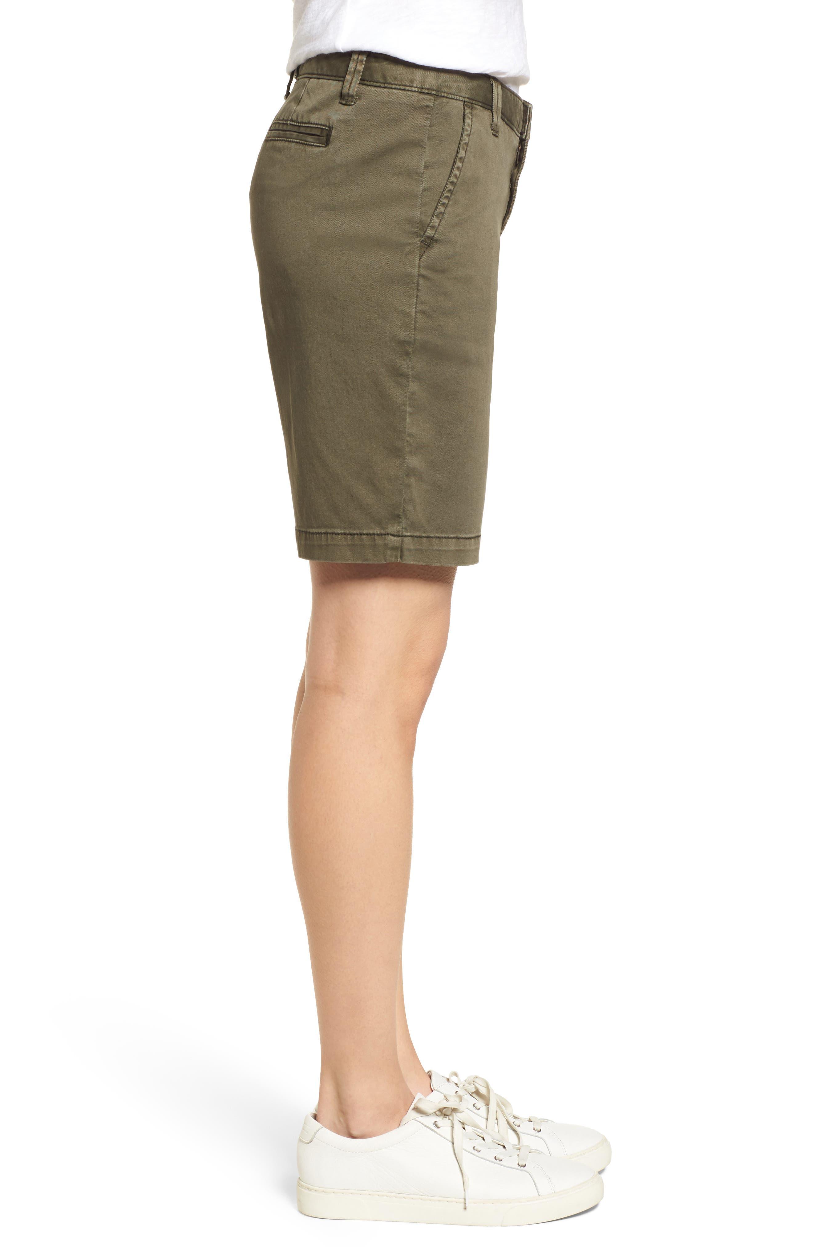 CASLON<SUP>®</SUP>, Twill Shorts, Alternate thumbnail 4, color, OLIVE SARMA