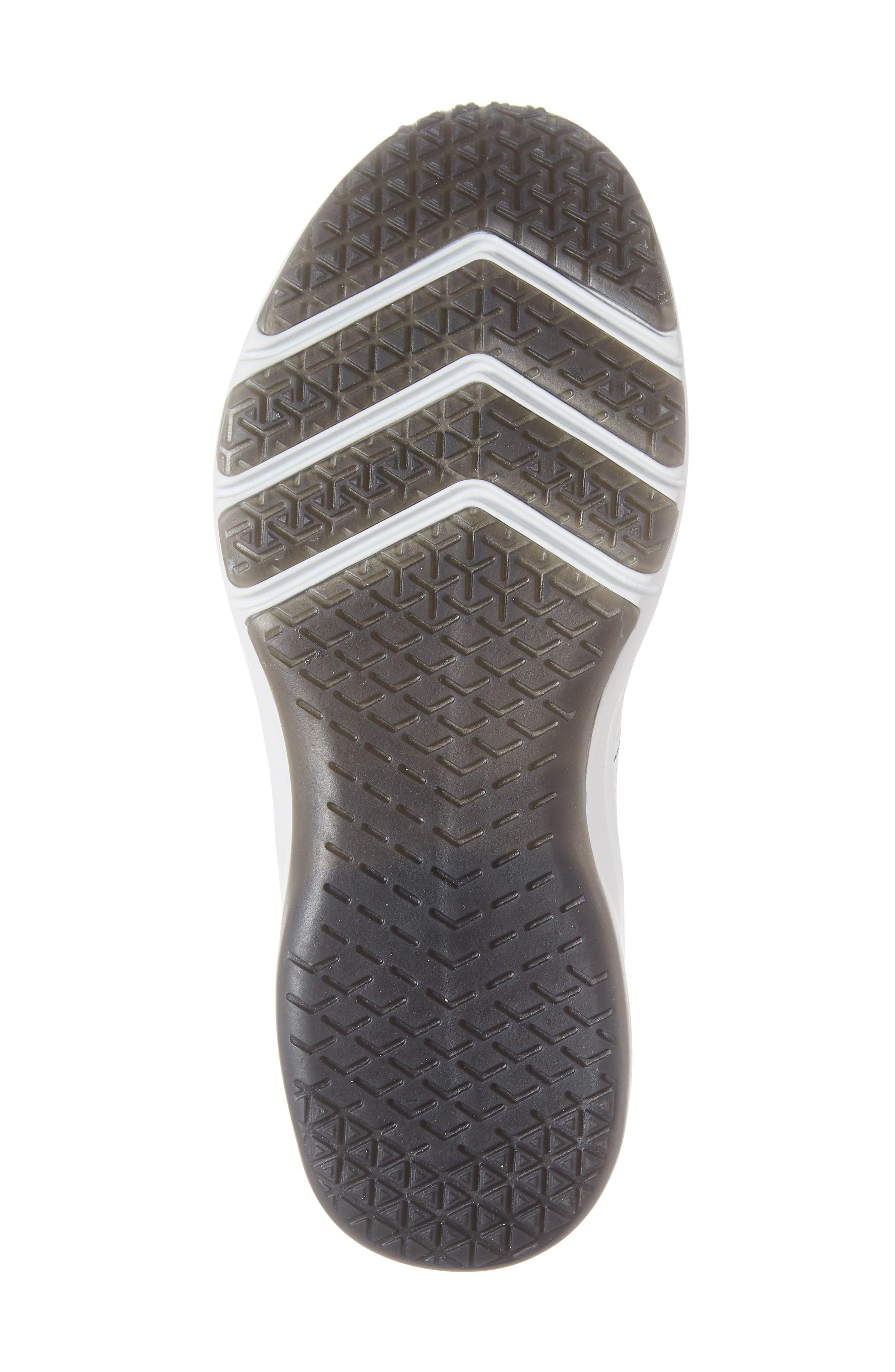 NIKE, Air Zoom Fearless Flyknit 2 Training Sneaker, Alternate thumbnail 6, color, WHITE/ PLATINUM TINT/ BLACK