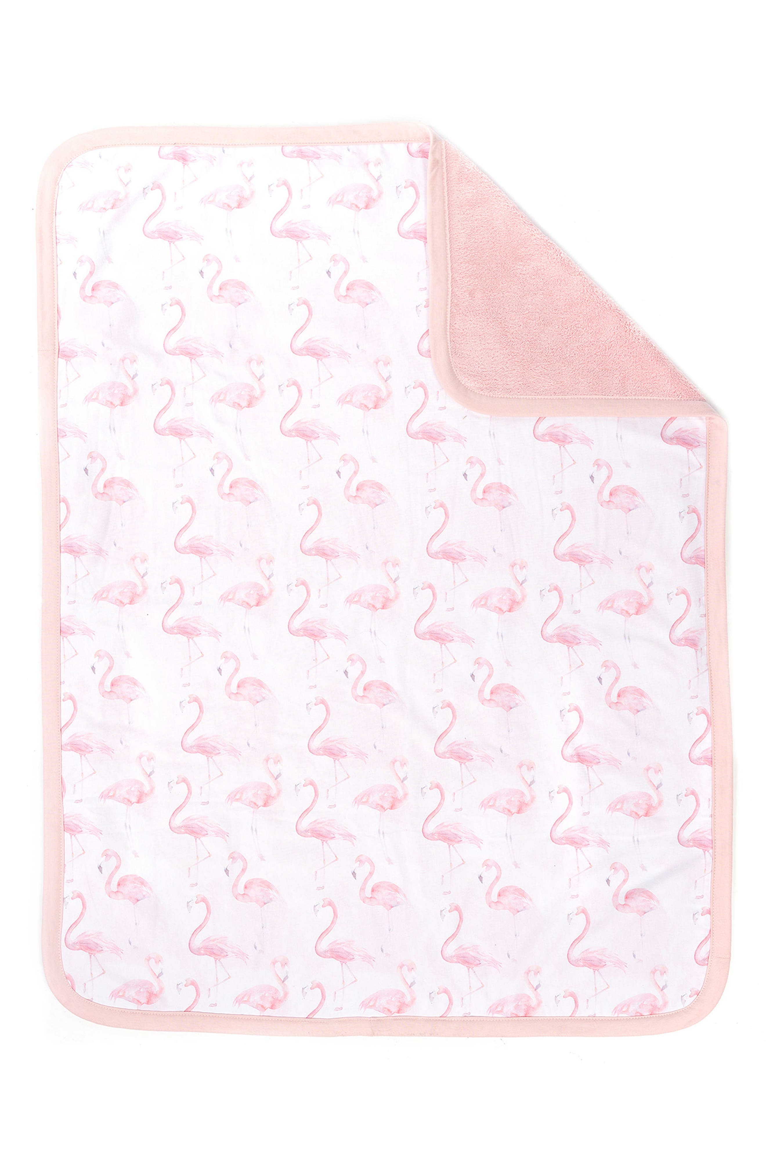 OILO, Flamingo Cuddle Blanket, Alternate thumbnail 2, color, BLUSH