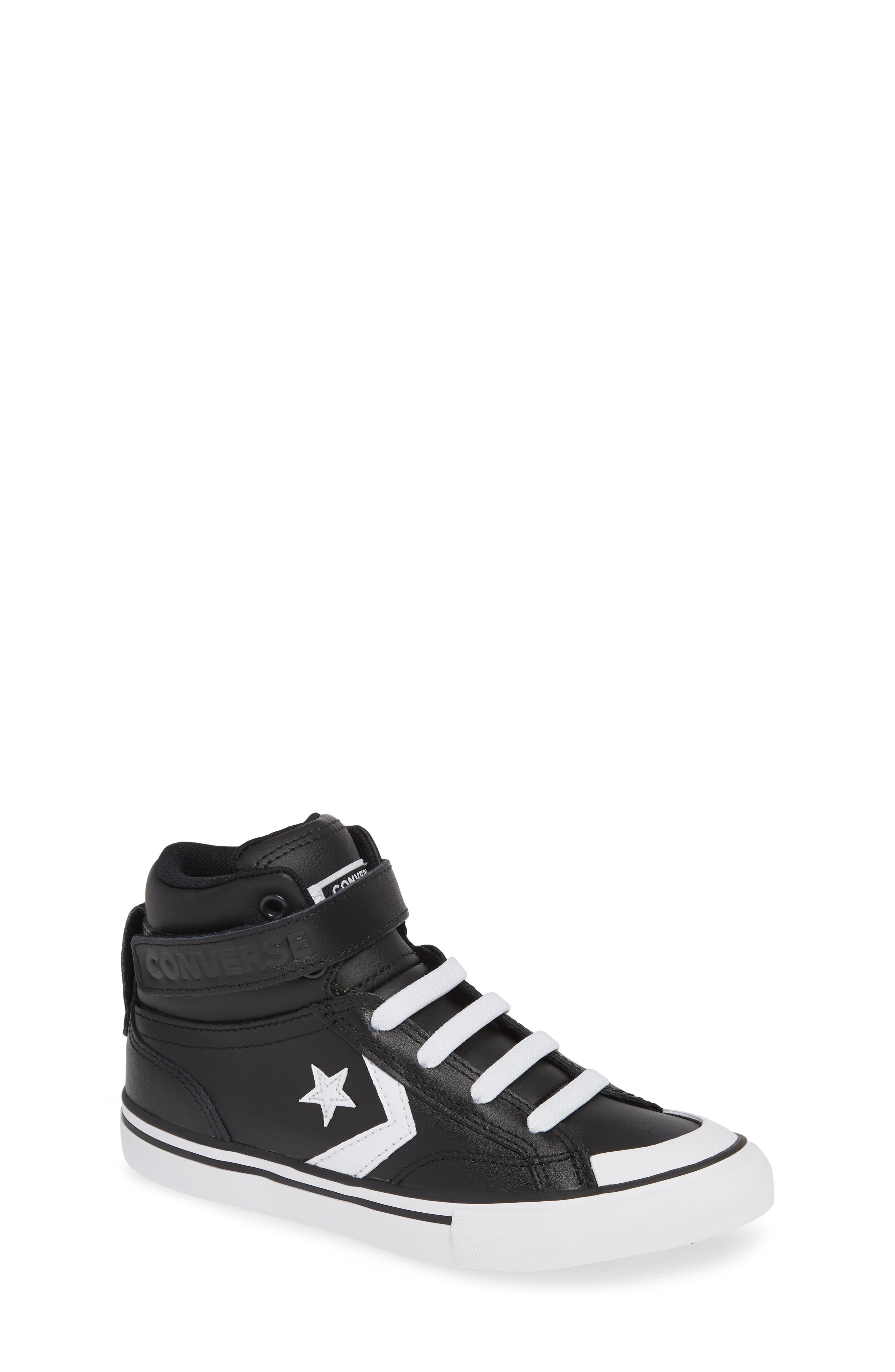 CONVERSE, Pro Blaze High Top Sneaker, Main thumbnail 1, color, BLACK/ WHITE/ WHITE