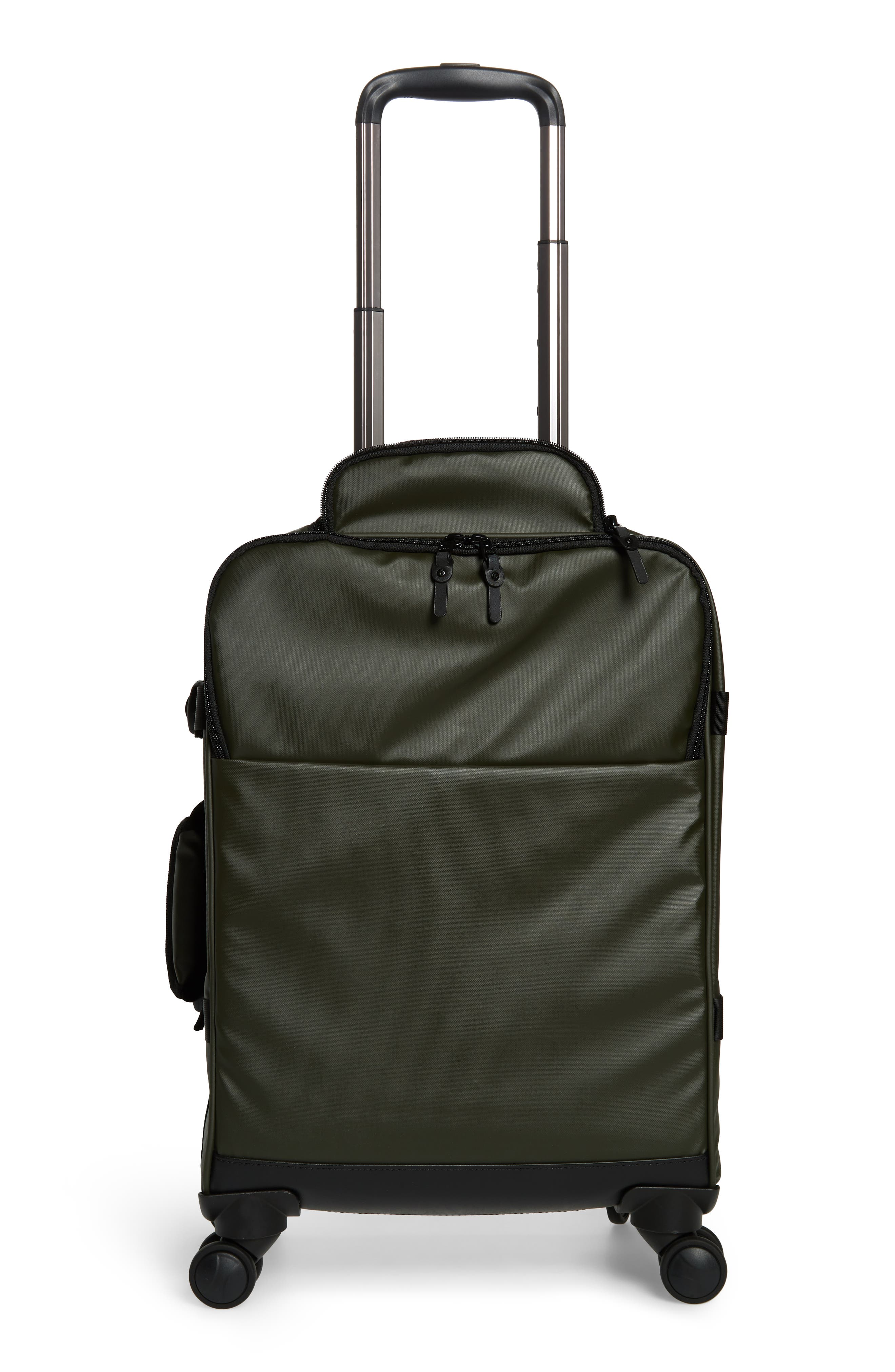 HIDEO WAKAMATSU, Veil Carry-On, Alternate thumbnail 4, color, ARMY GREEN