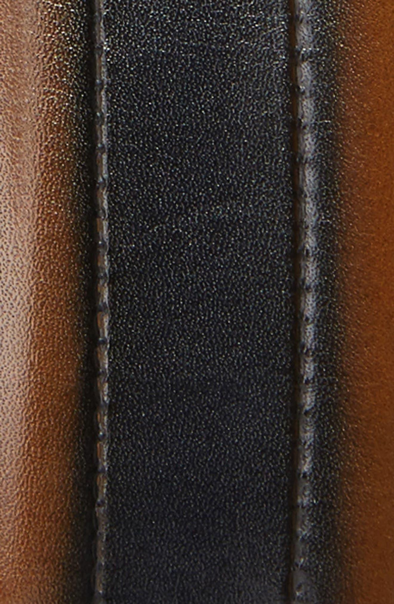 MEZLAN, Palma Leather Belt, Alternate thumbnail 2, color, TAN/ BLUE