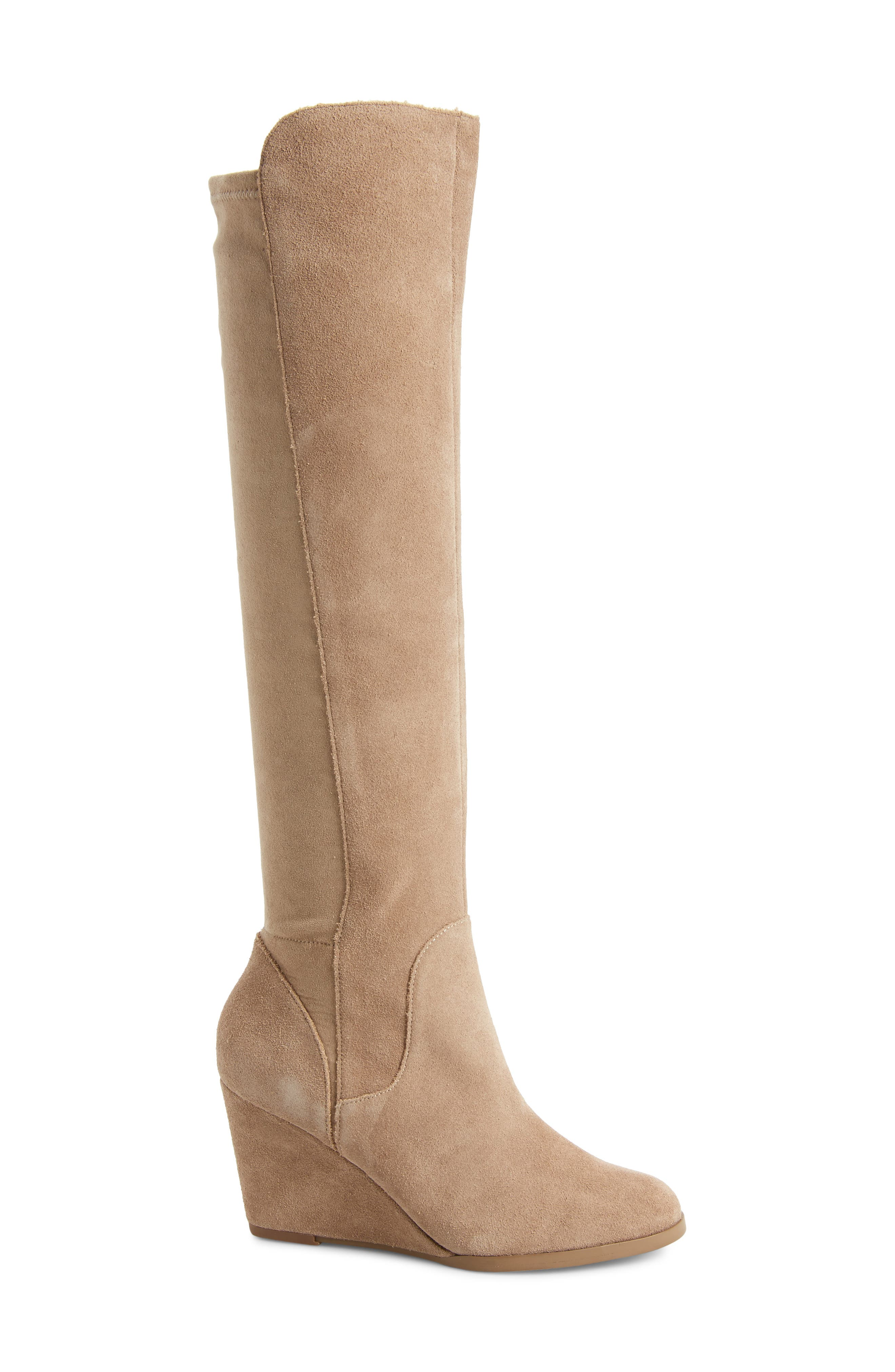SOLE SOCIETY, Laila Boot, Alternate thumbnail 3, color, TAUPE