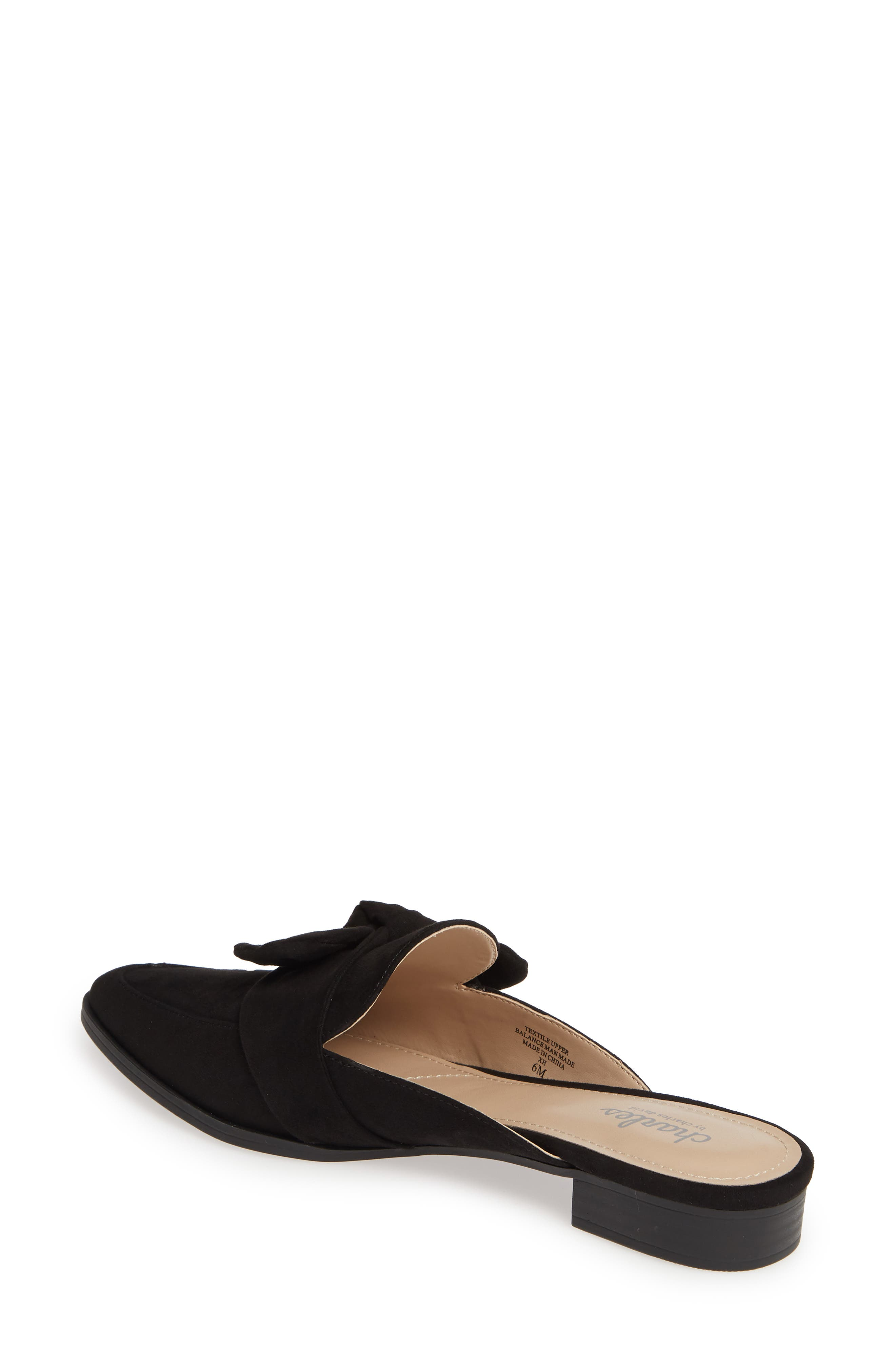 CHARLES BY CHARLES DAVID, Essence Mule, Alternate thumbnail 2, color, BLACK FABRIC