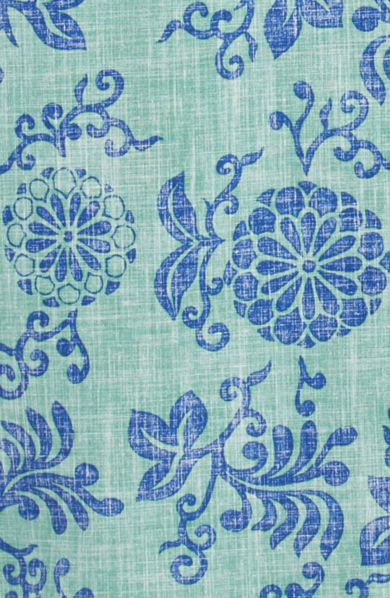 REYN SPOONER, Royal Chrysanthemums Regular Fit Sport Shirt, Alternate thumbnail 6, color, 310