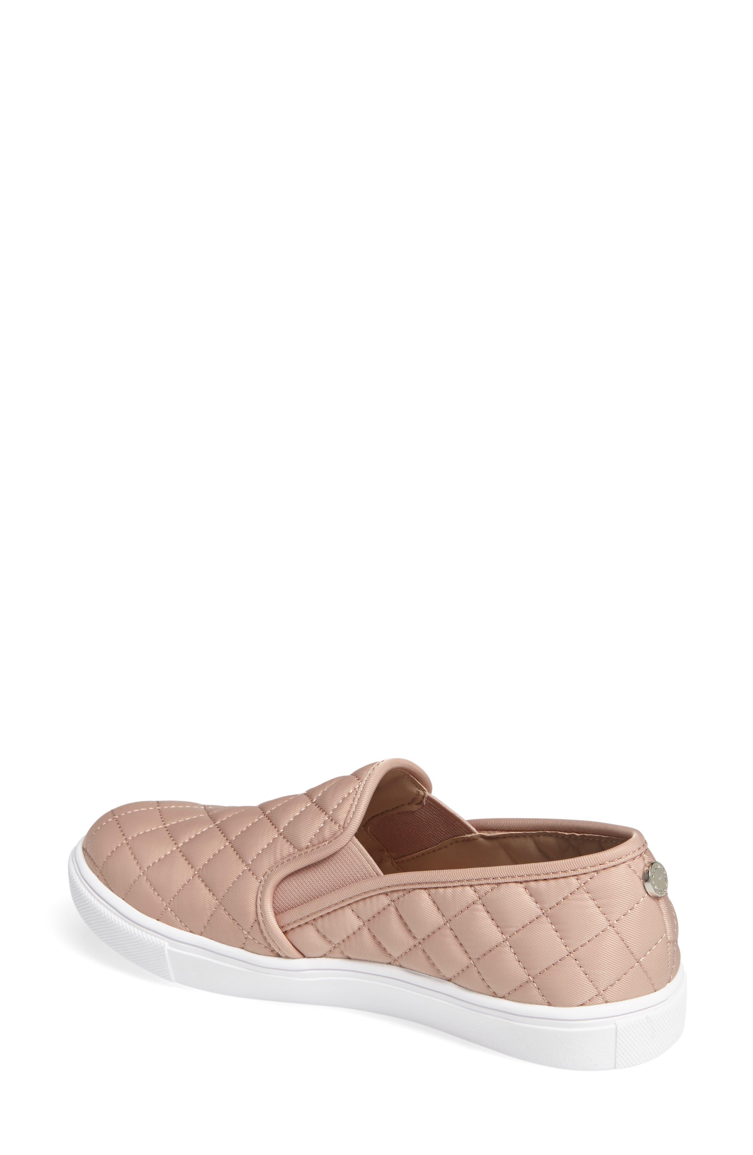 STEVE MADDEN, 'Ecntrcqt' Sneaker, Alternate thumbnail 2, color, BLUSH FABRIC