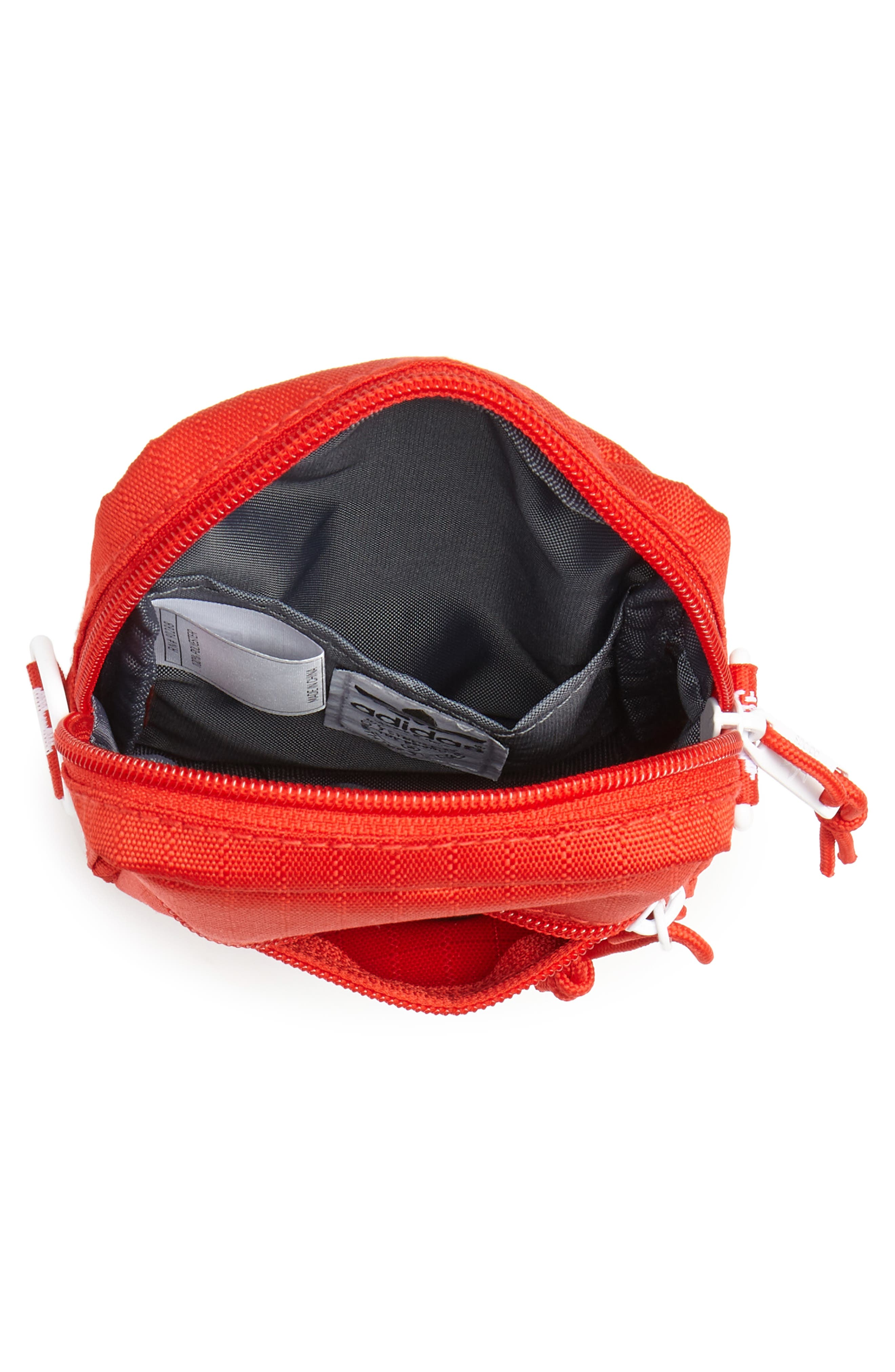 ADIDAS, Logo Belt Bag, Alternate thumbnail 5, color, RED