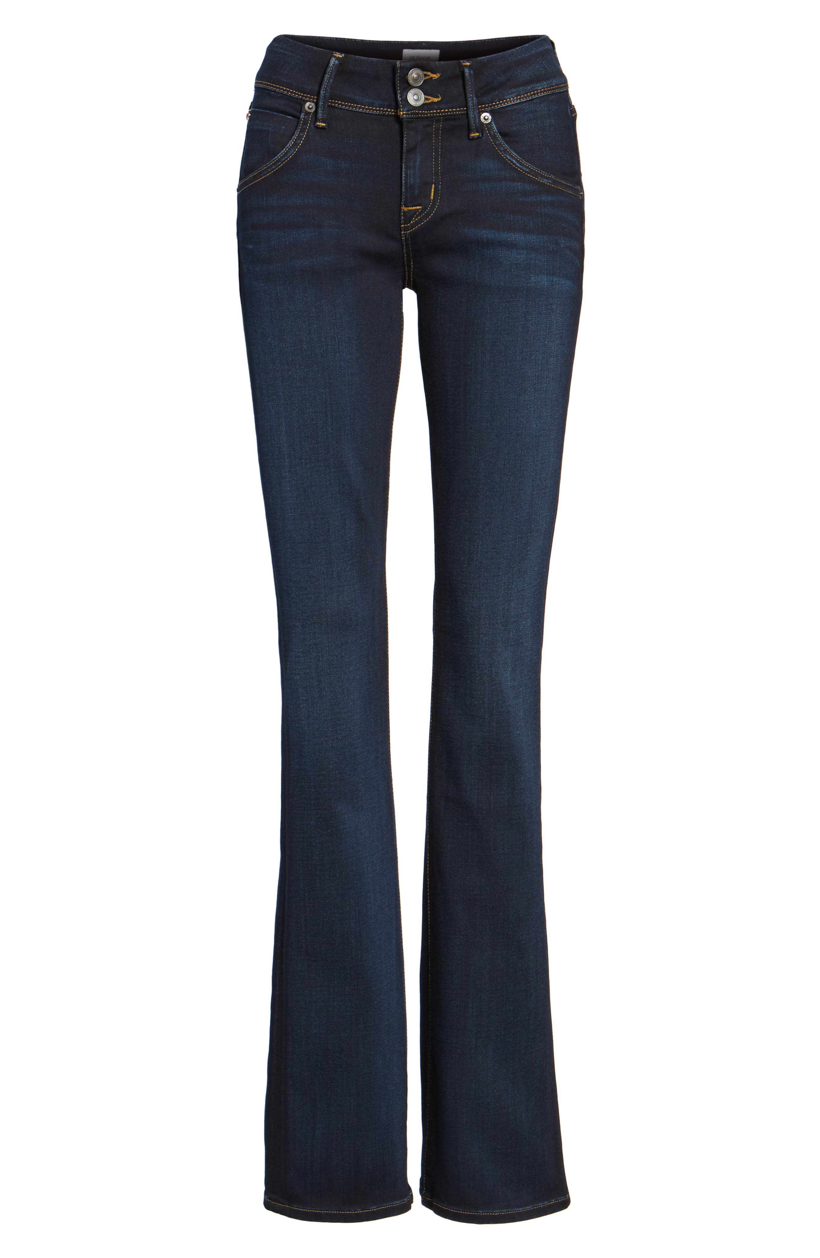 HUDSON JEANS, 'Elysian - Beth' Baby Bootcut Jeans, Main thumbnail 1, color, ORACLE