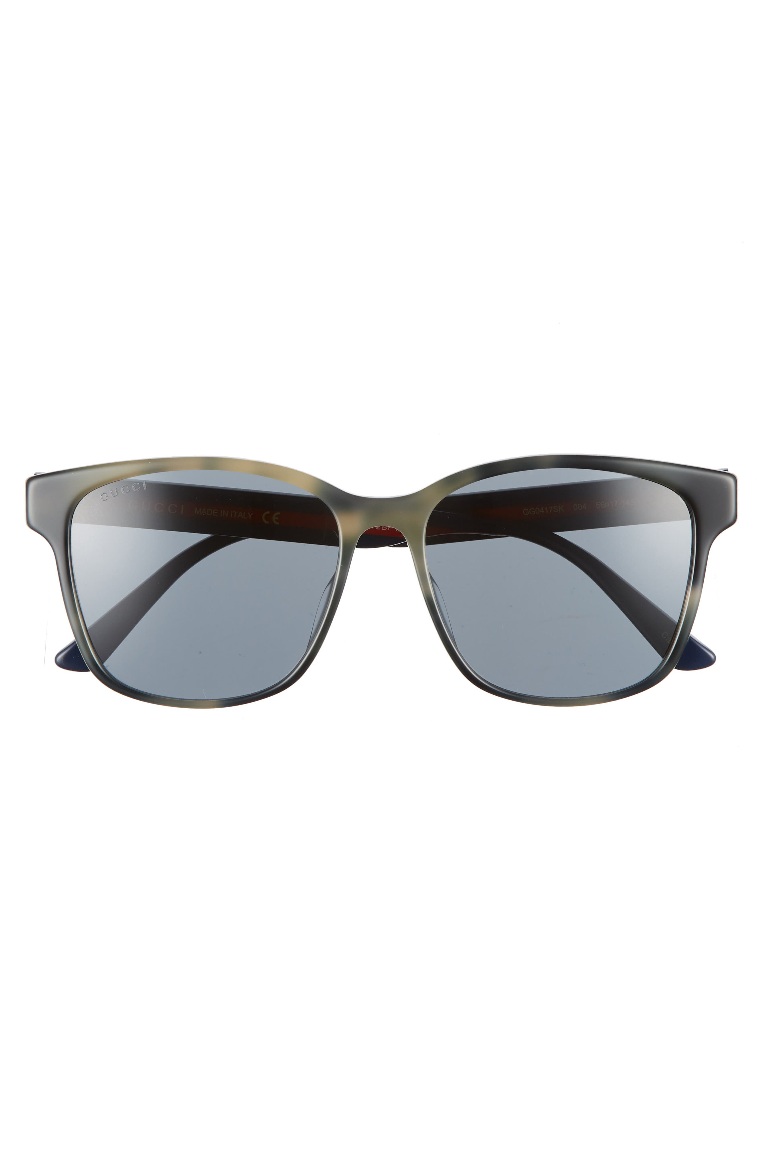 GUCCI, 56mm Square Sunglasses, Alternate thumbnail 2, color, GREY HAVANA