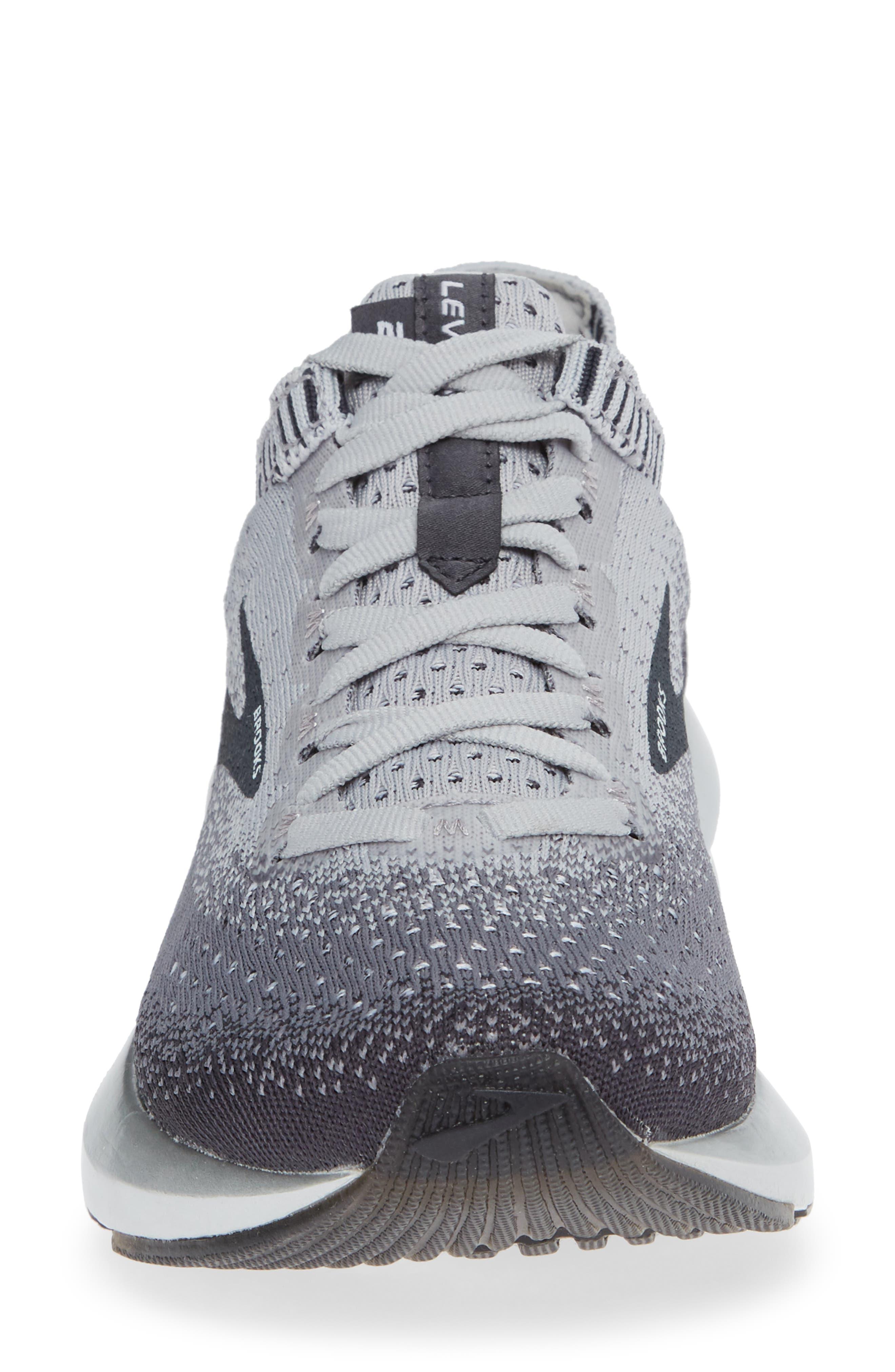 BROOKS, Levitate 2 Running Shoe, Alternate thumbnail 4, color, GREY/ EBONY/ WHITE