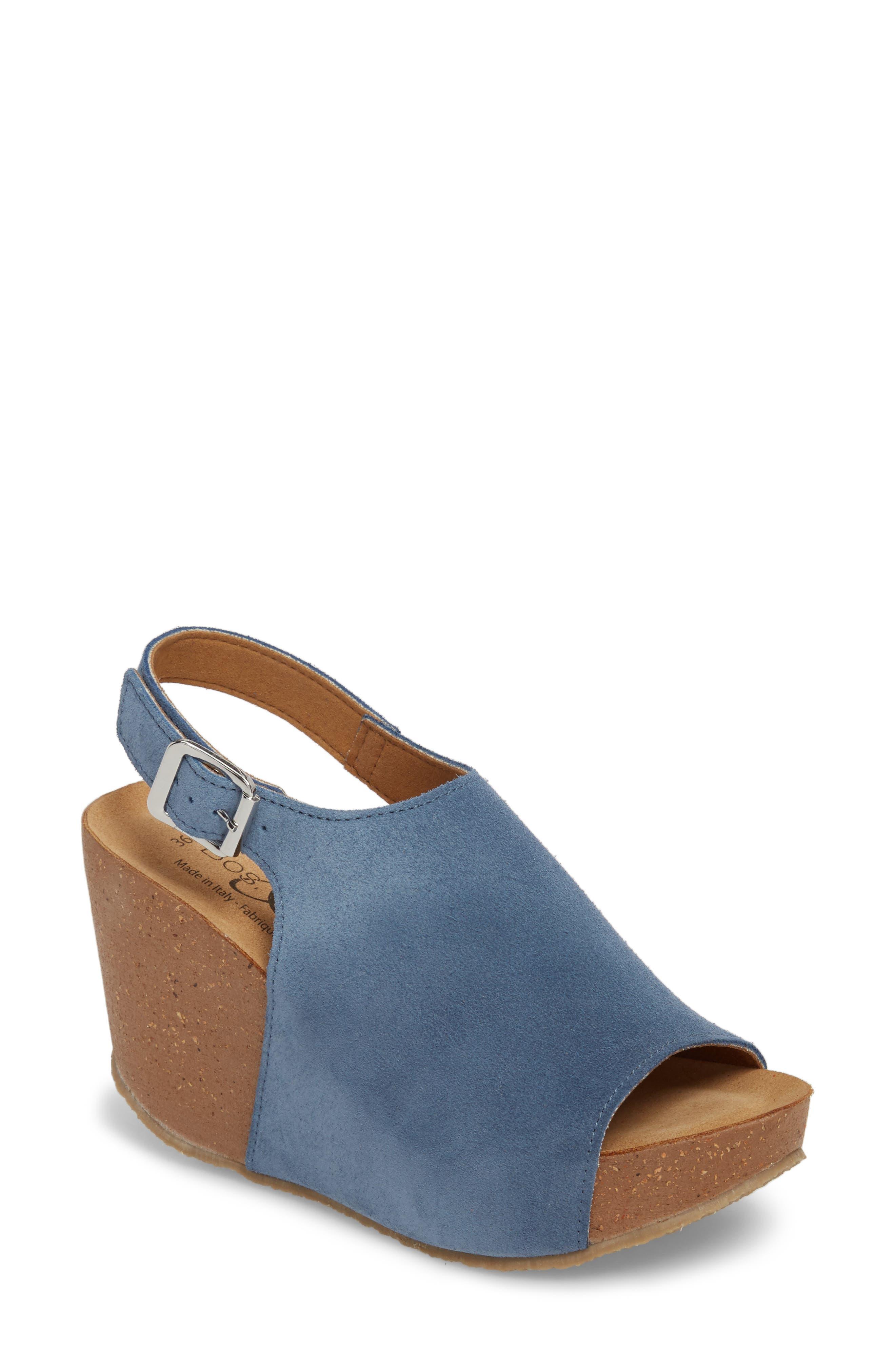 Bos. & Co. Sheila Platform Wedge Sandal - Blue