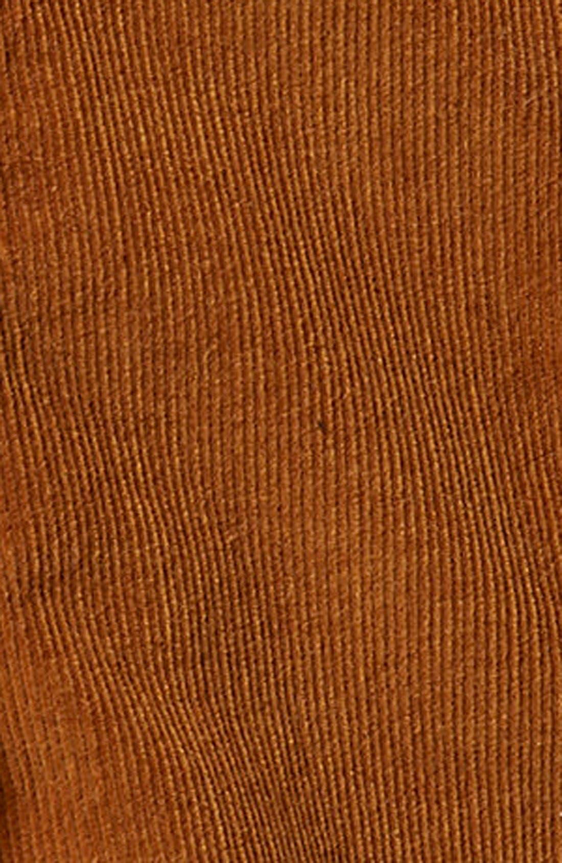 TOPSHOP, A-Line Corduroy Skirt, Alternate thumbnail 5, color, 210