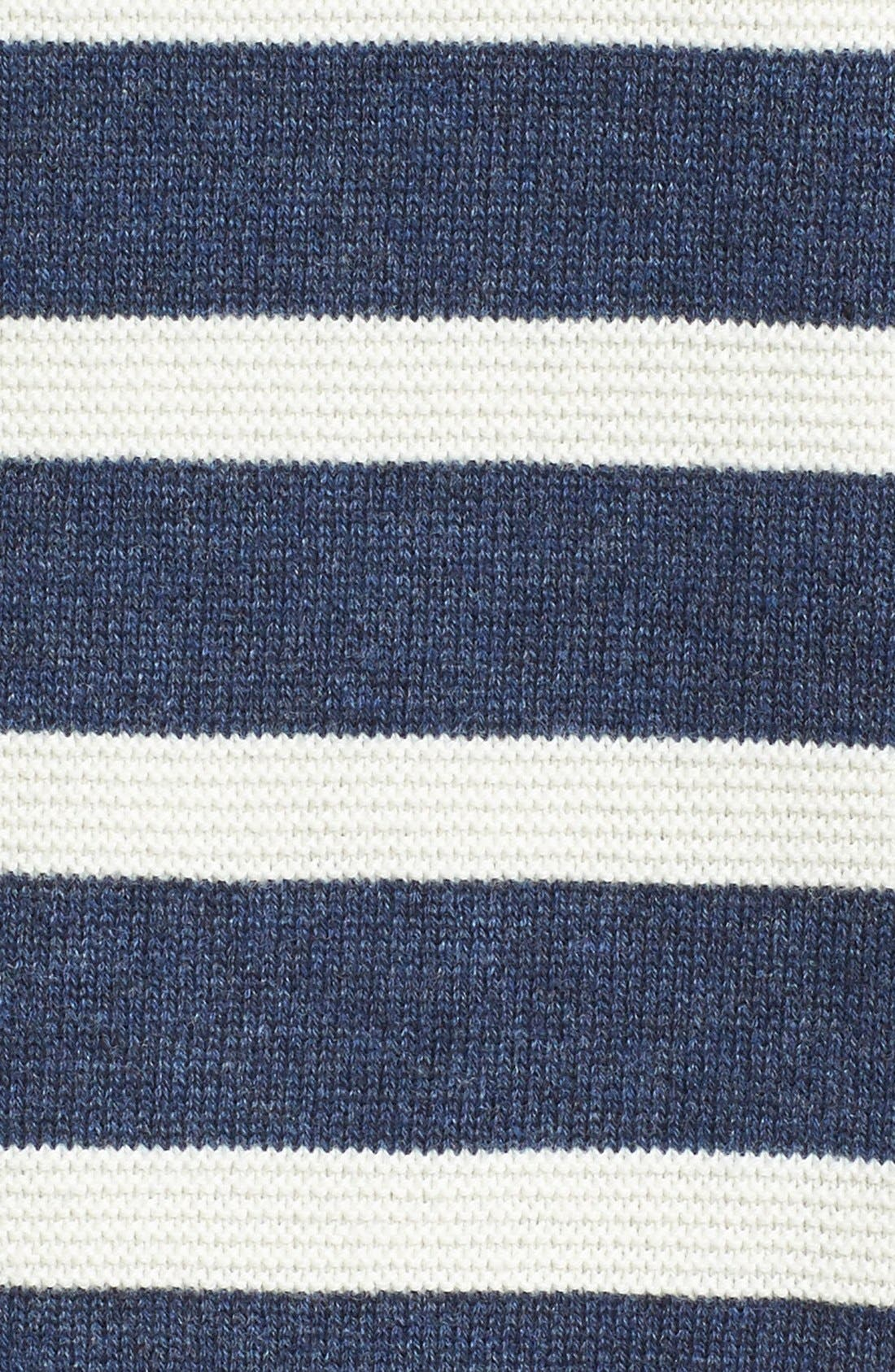 WALLIN & BROS., Ottoman Stripe Cardigan, Alternate thumbnail 6, color, 410