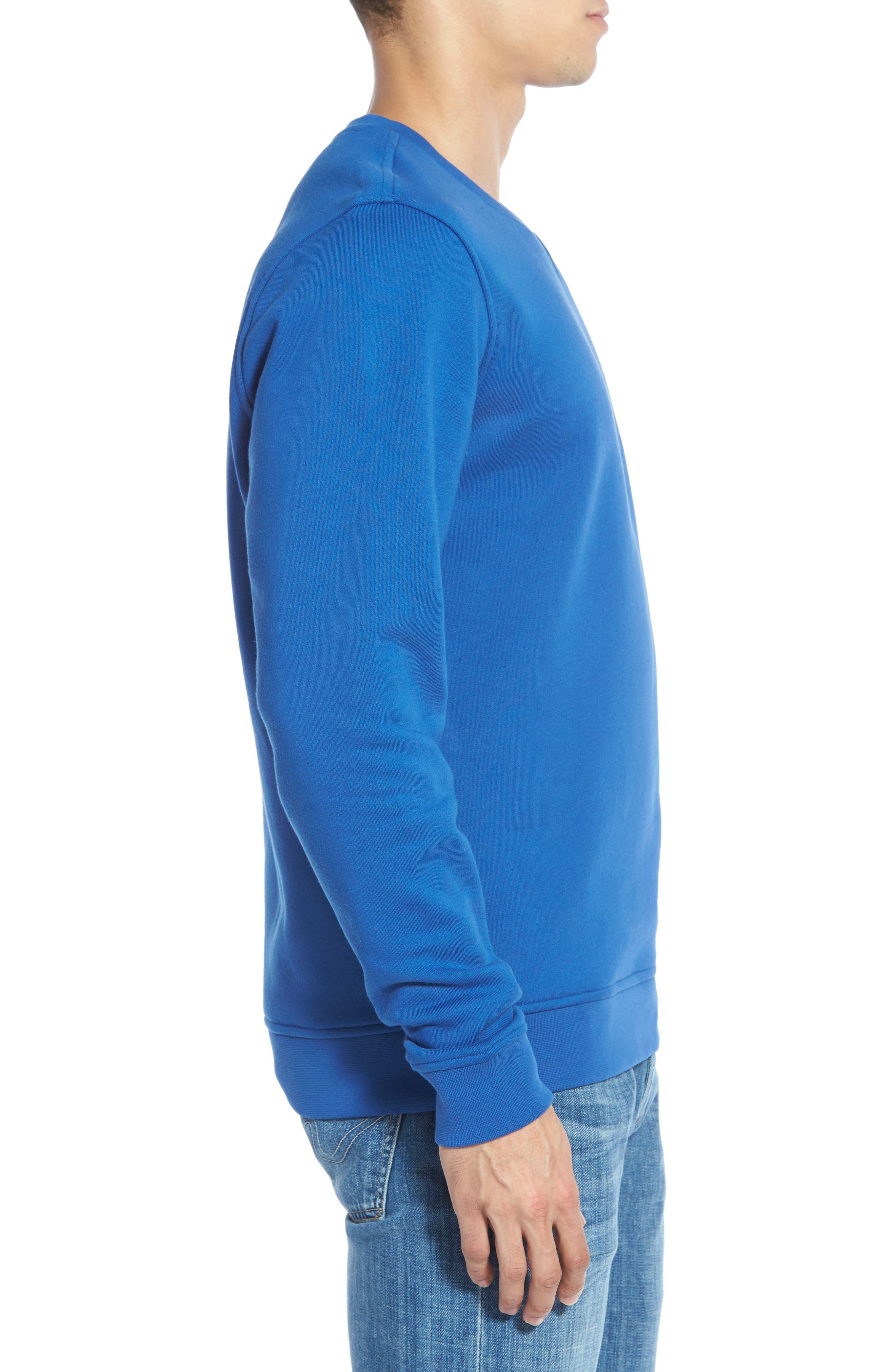 LACOSTE, 'Sport' Crewneck Sweatshirt, Alternate thumbnail 3, color, NAVY