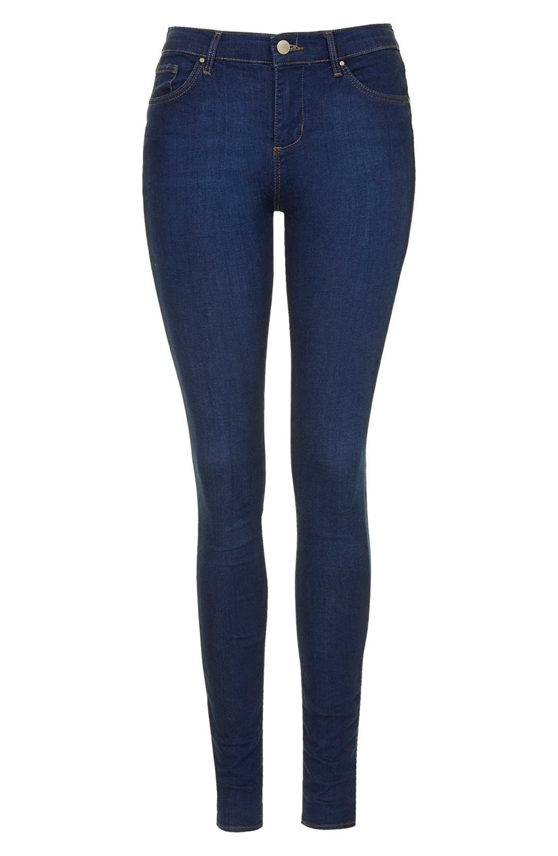 TOPSHOP, Moto 'Leigh' Ankle Skinny Jeans, Alternate thumbnail 6, color, 410