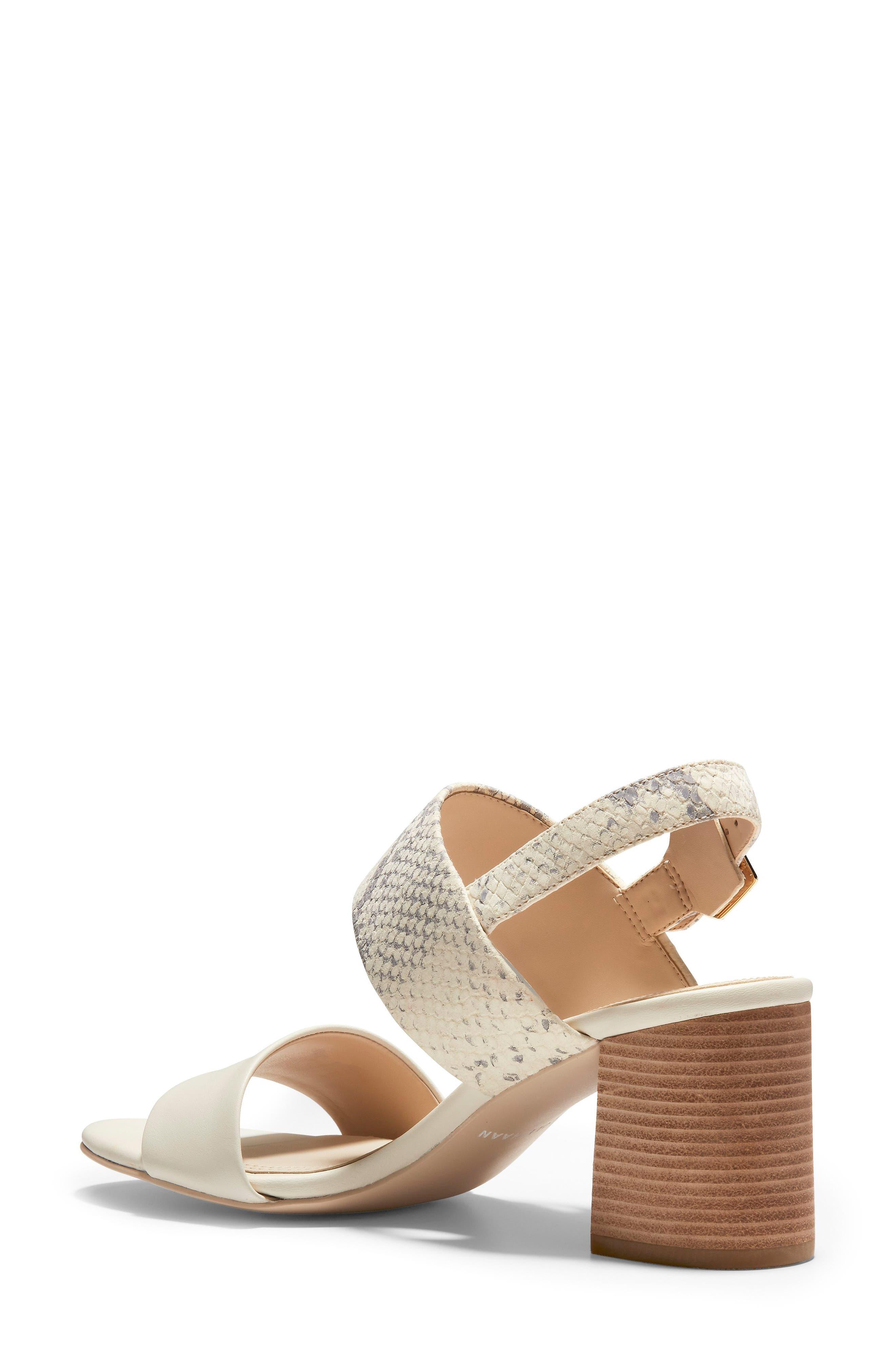 COLE HAAN, Avani Block Heel Sandal, Alternate thumbnail 2, color, IVORY PRINT LEATHER
