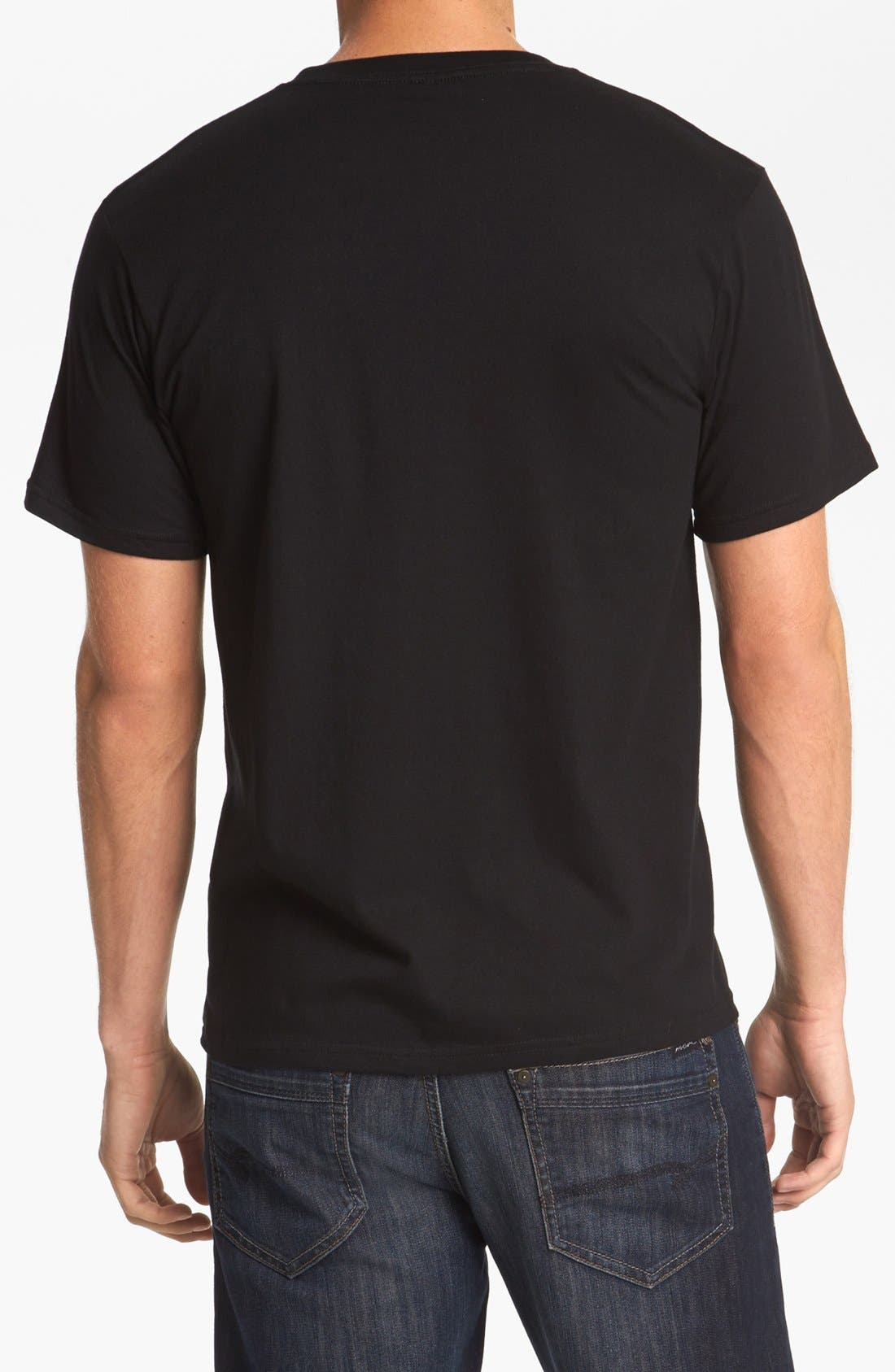 HORSES CUT SHOP, 'Comet Tavern' T-Shirt, Alternate thumbnail 3, color, 001