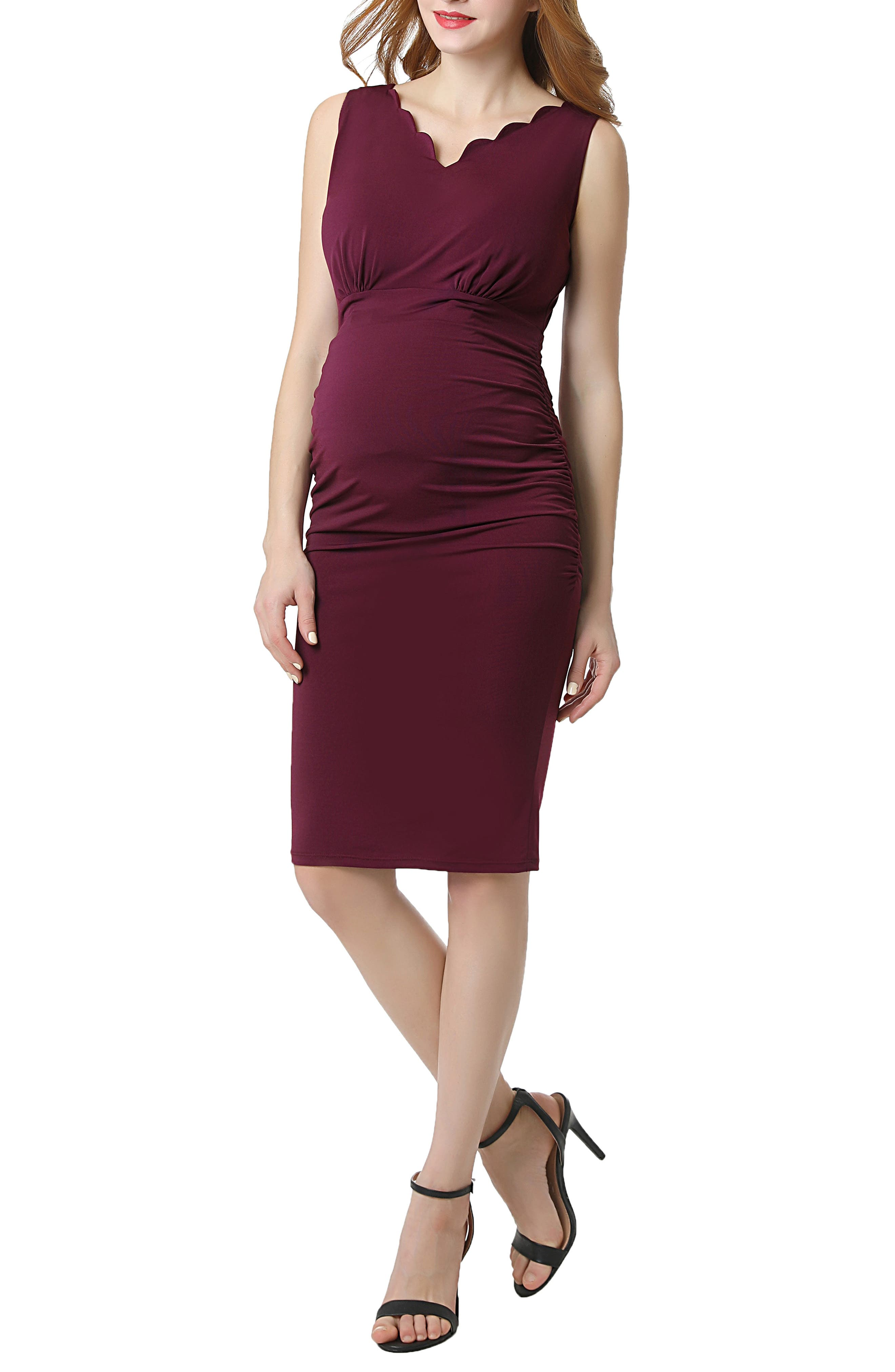 Kimi And Kai Talula Body-Con Maternity Dress, Pink