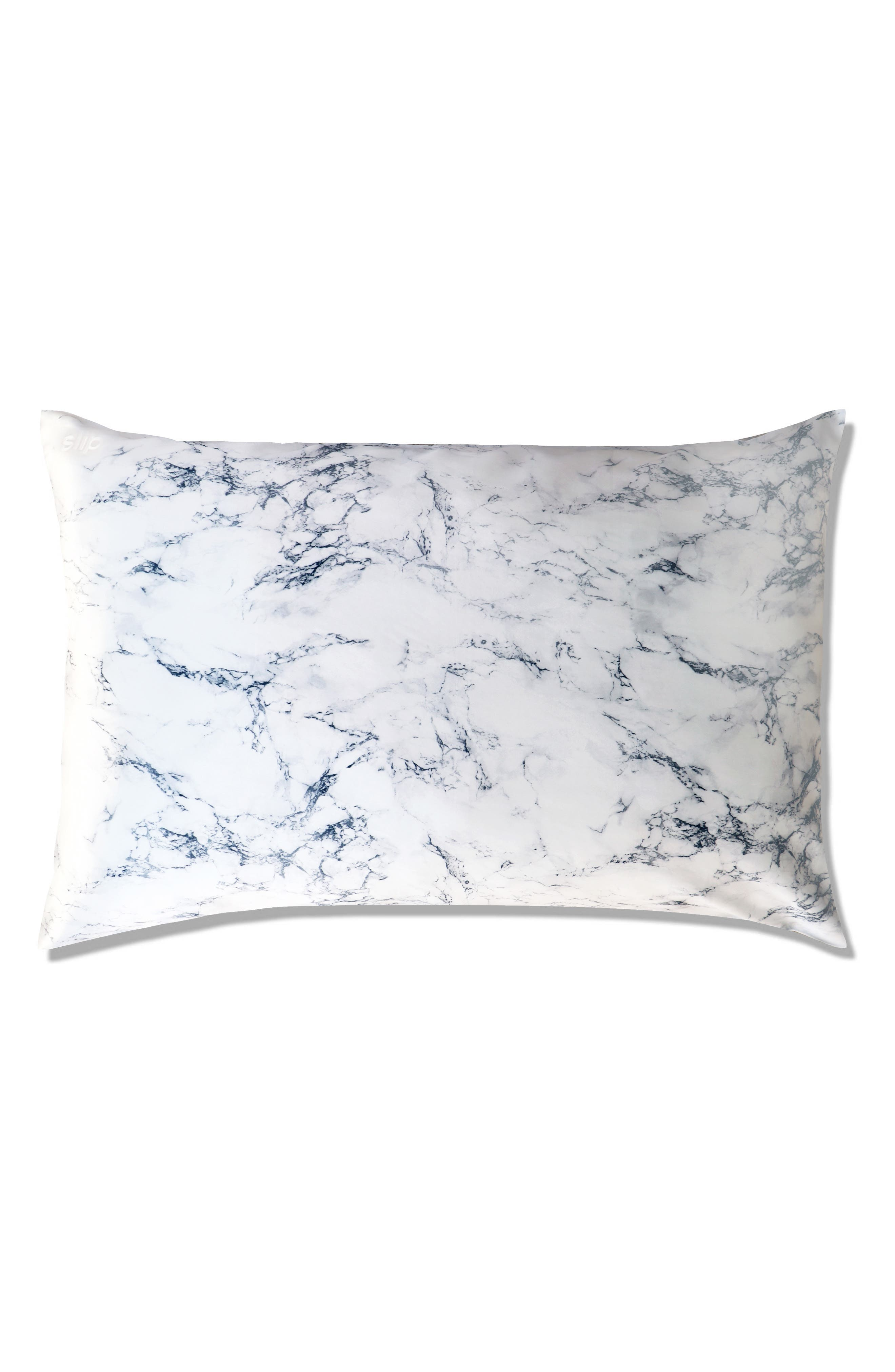 SLIP FOR BEAUTY SLEEP, slip<sup>™</sup> for beauty sleep Slipsilk<sup>™</sup> Pure Silk Pillowcase, Main thumbnail 1, color, MARBLE